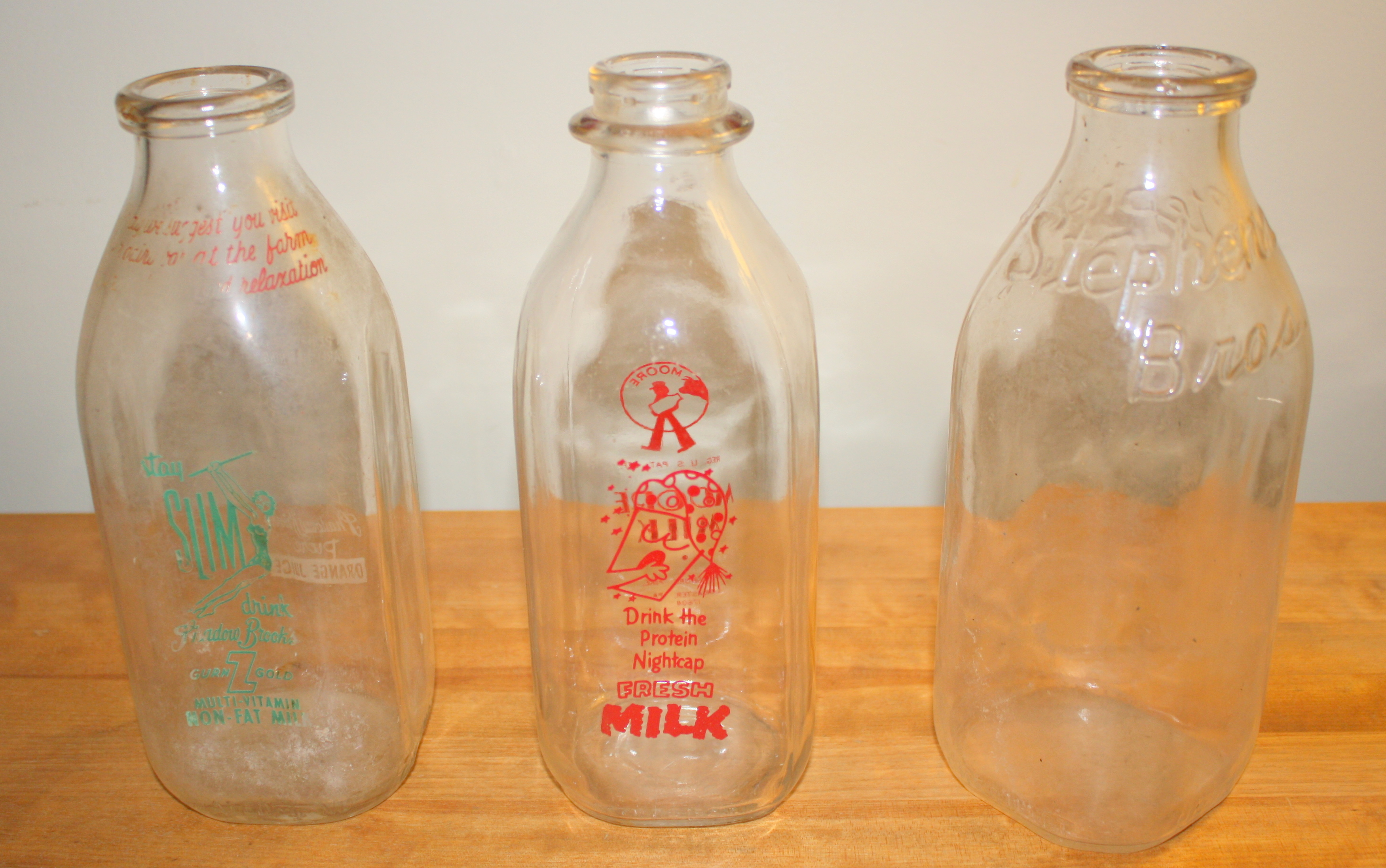Dating old milk bottles