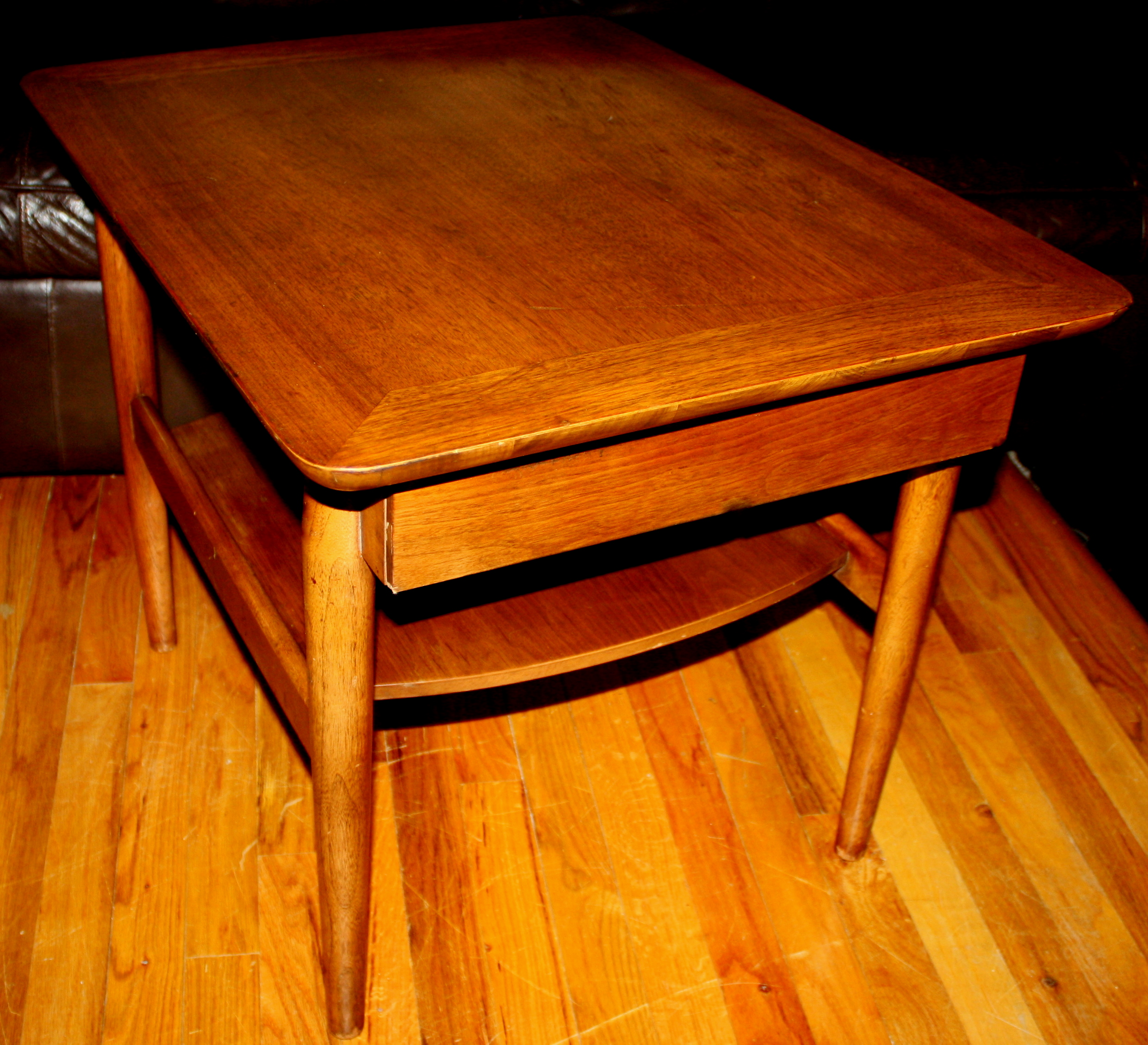 Mid Century Modern Side End Table American By