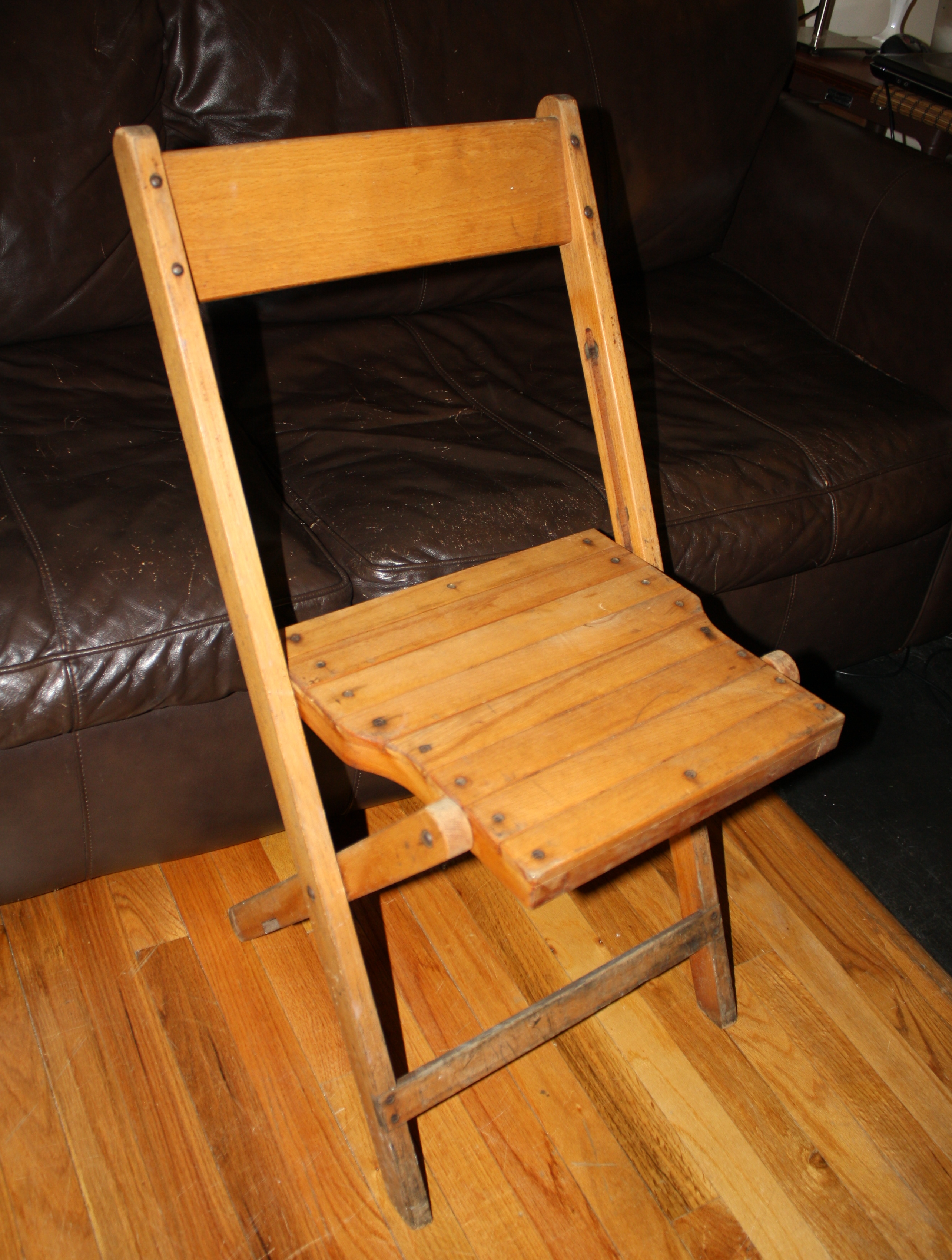 Vintage Wood Folding Chairs Picked Vintage