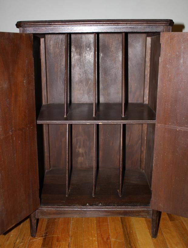 Mahogany Record Cabinet 2 Picked Vintage