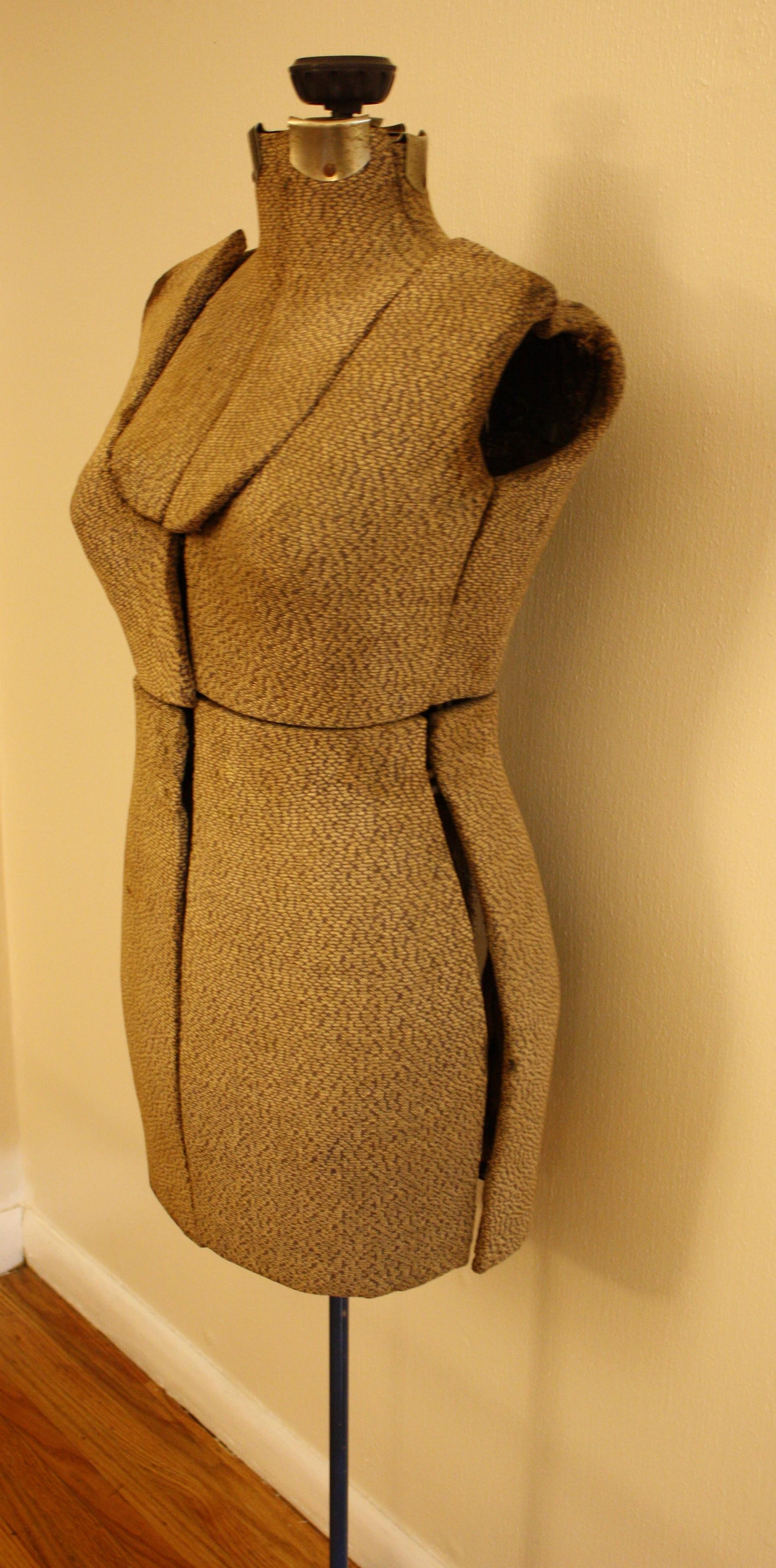 Antique Vintage Dress Form On Steel Stand Picked Vintage