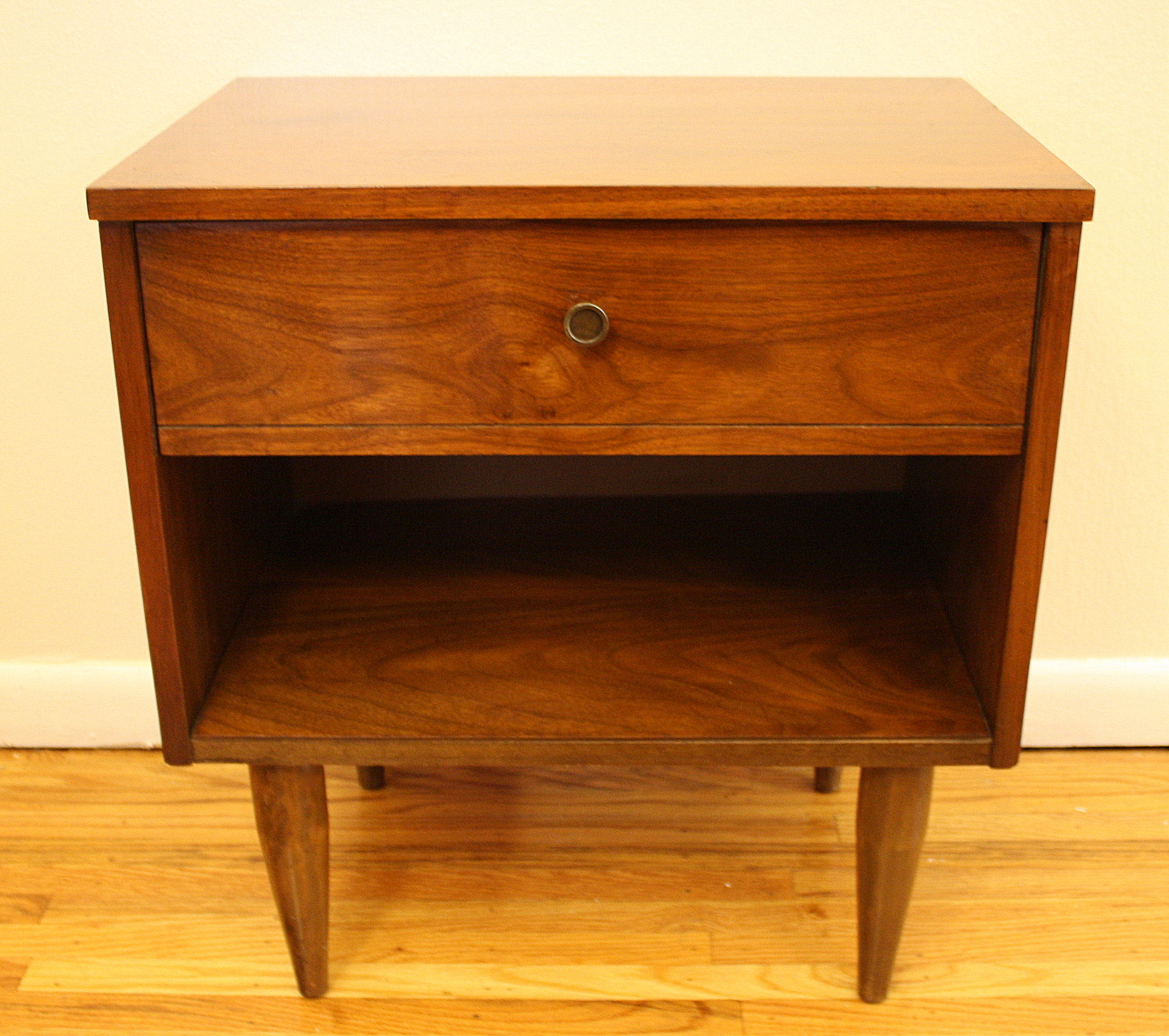 Mid Century Modern Side End Table with Drawer and Shelf ...