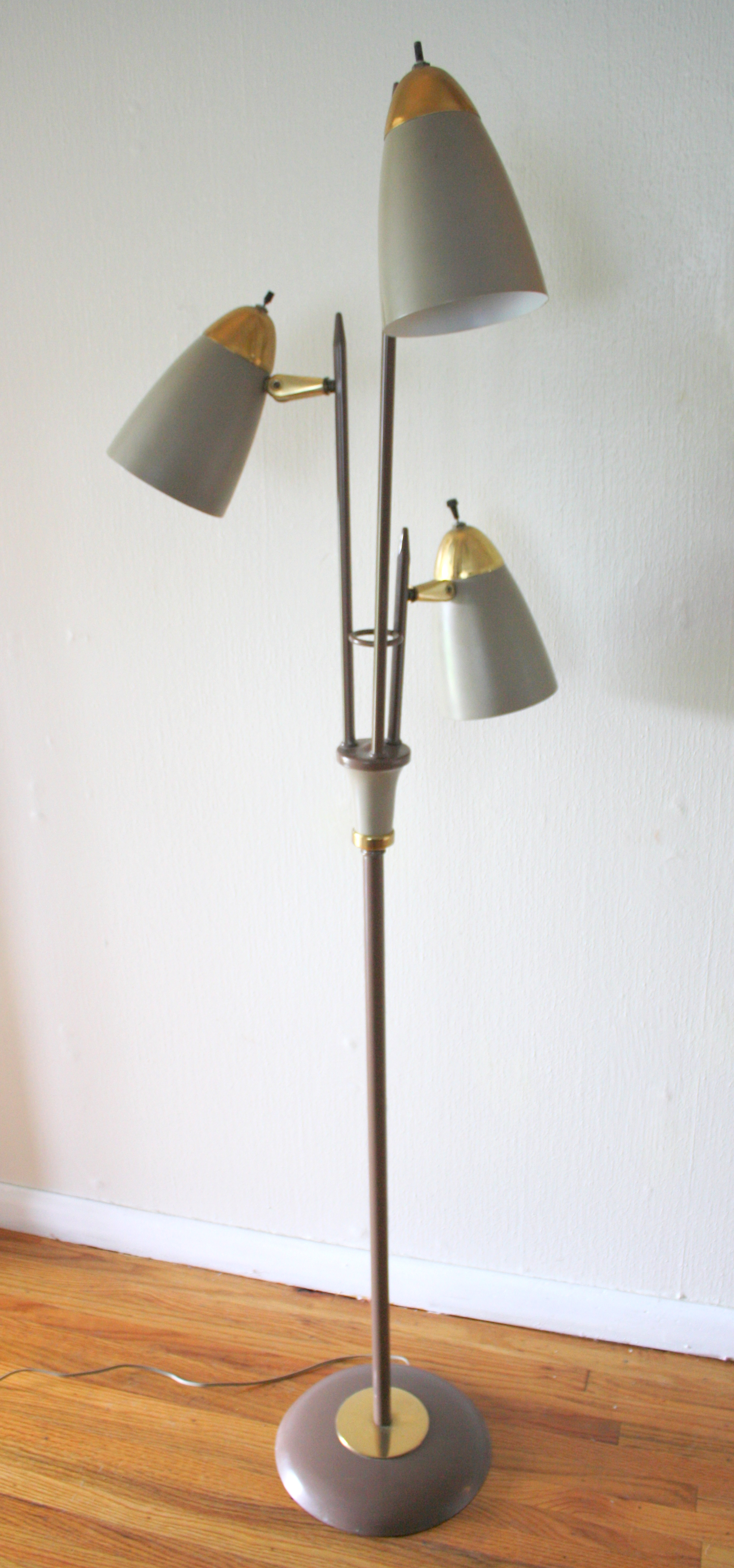 Mid century modern bullet floor lamp and desk picked vintage bullet lamp 1 aloadofball Gallery