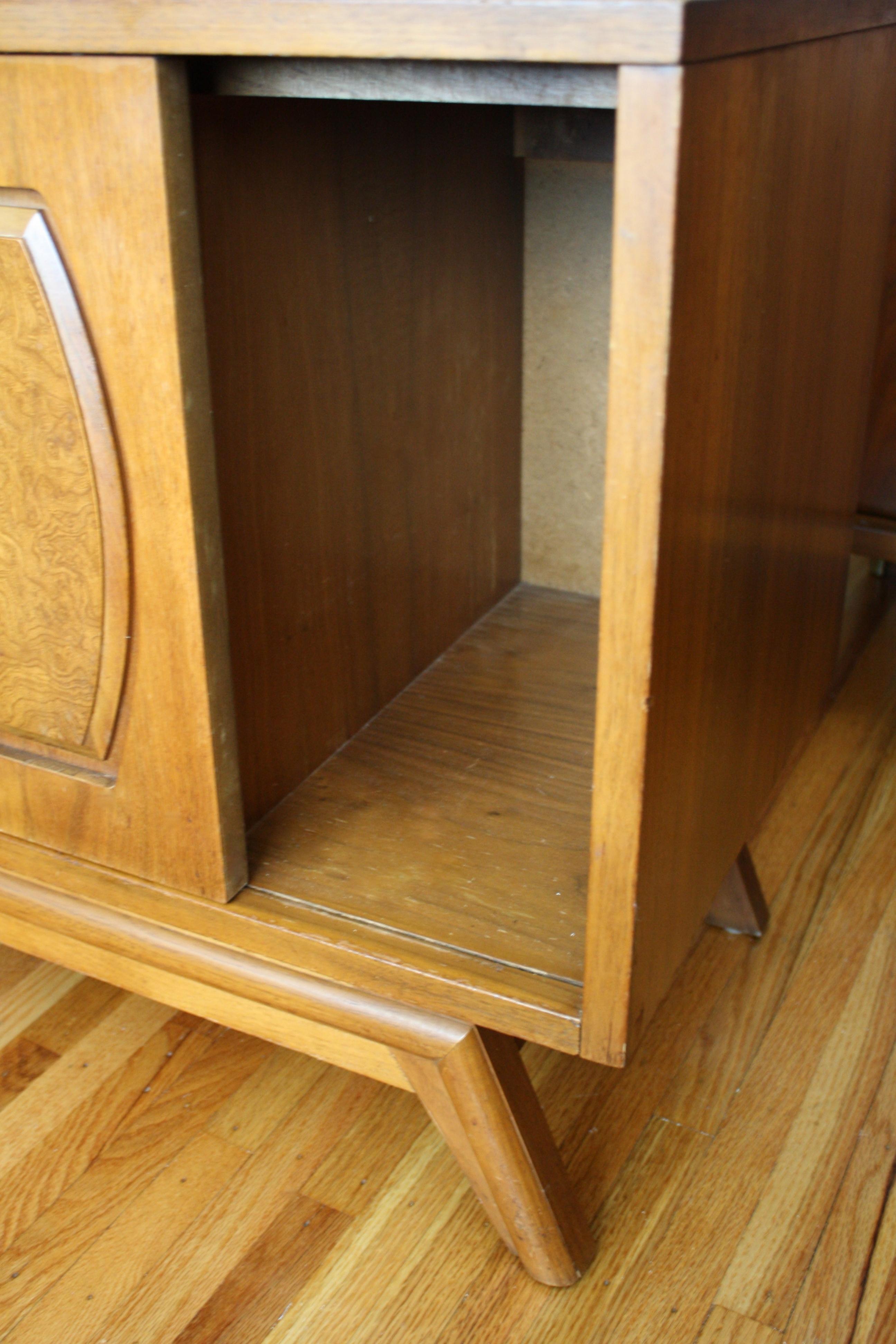 Mid Century Modern Cabinet Burl Design Picked Vintage