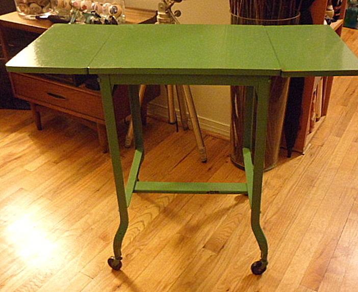Vintage Green Typewriter Table Picked Vintage