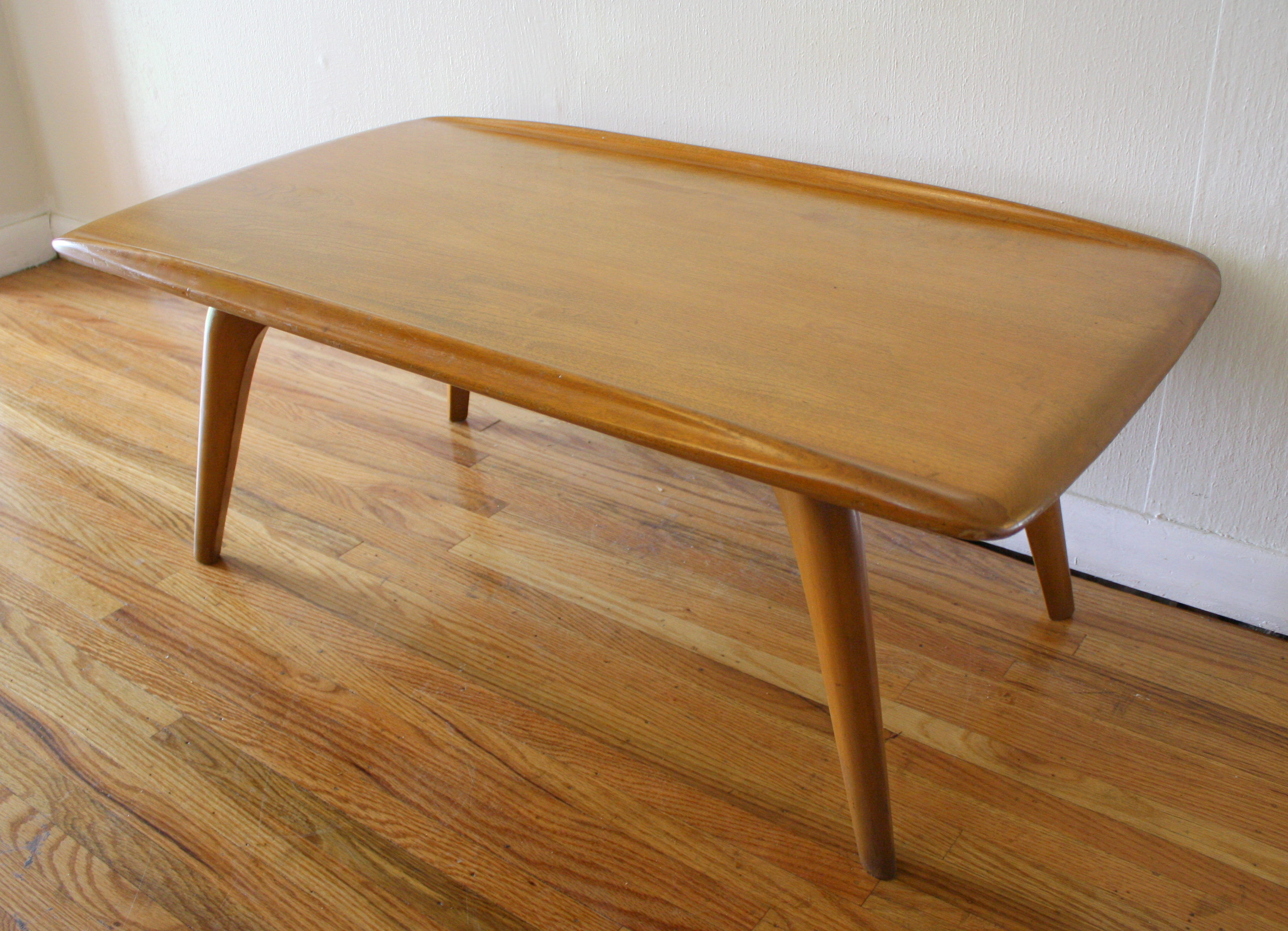 Heywood wakefield coffee table with surfboard edges picked vintage geotapseo Image collections
