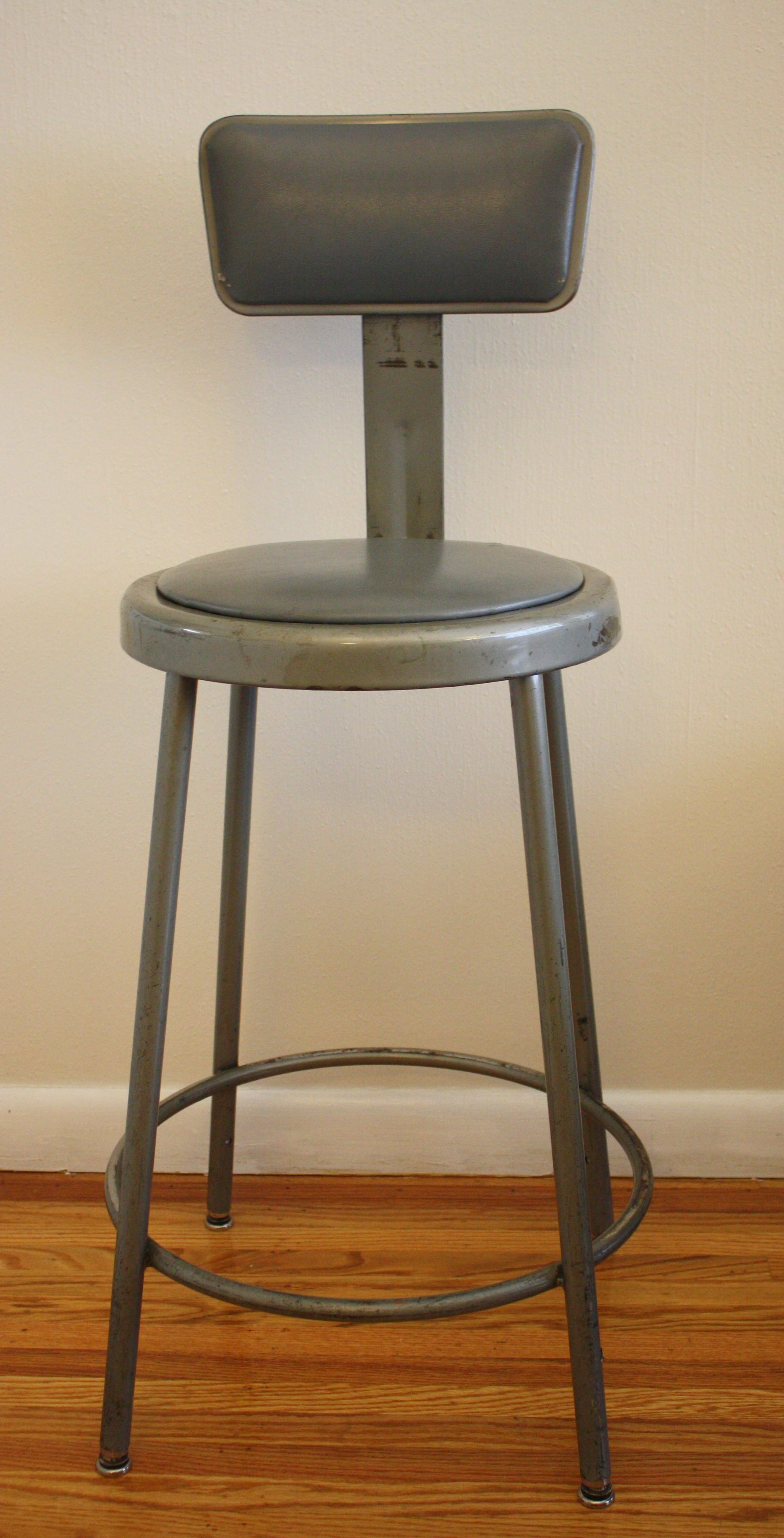 Antique Industrial Drafting Stool Picked Vintage