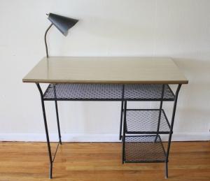 mcm desk with bullet light 1