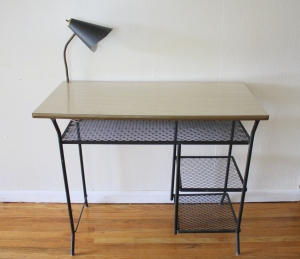 mcm desk with bullet light 1