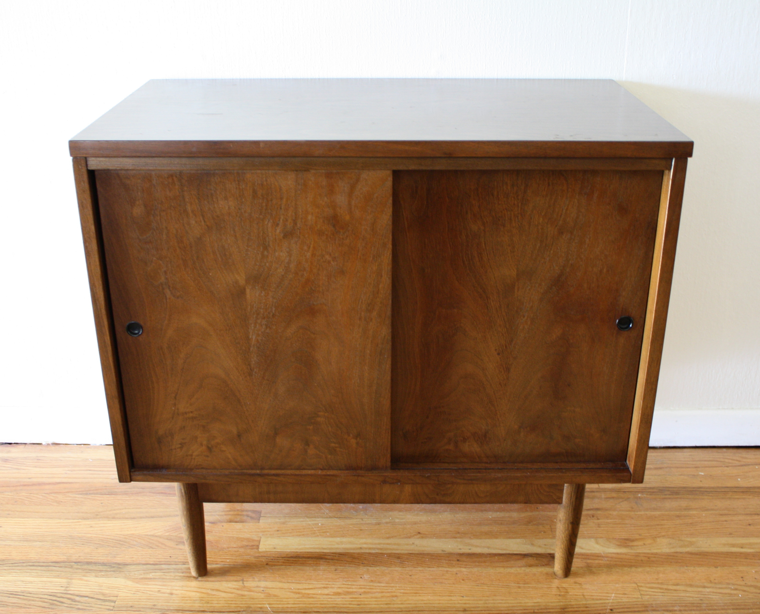 Mid century modern cabinets with sliding doors picked for Modern cabinet doors