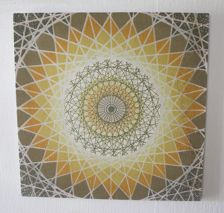 Vintage Mid Century Modern Woven Wall Art – Geometric ...