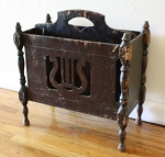 Antique Harp magazine rack 2