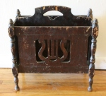 Antique Harp magazine rack