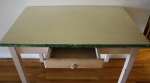 enamel top farmhouse table with drawer 2