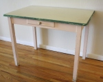 enamel top farmhouse table with drawer