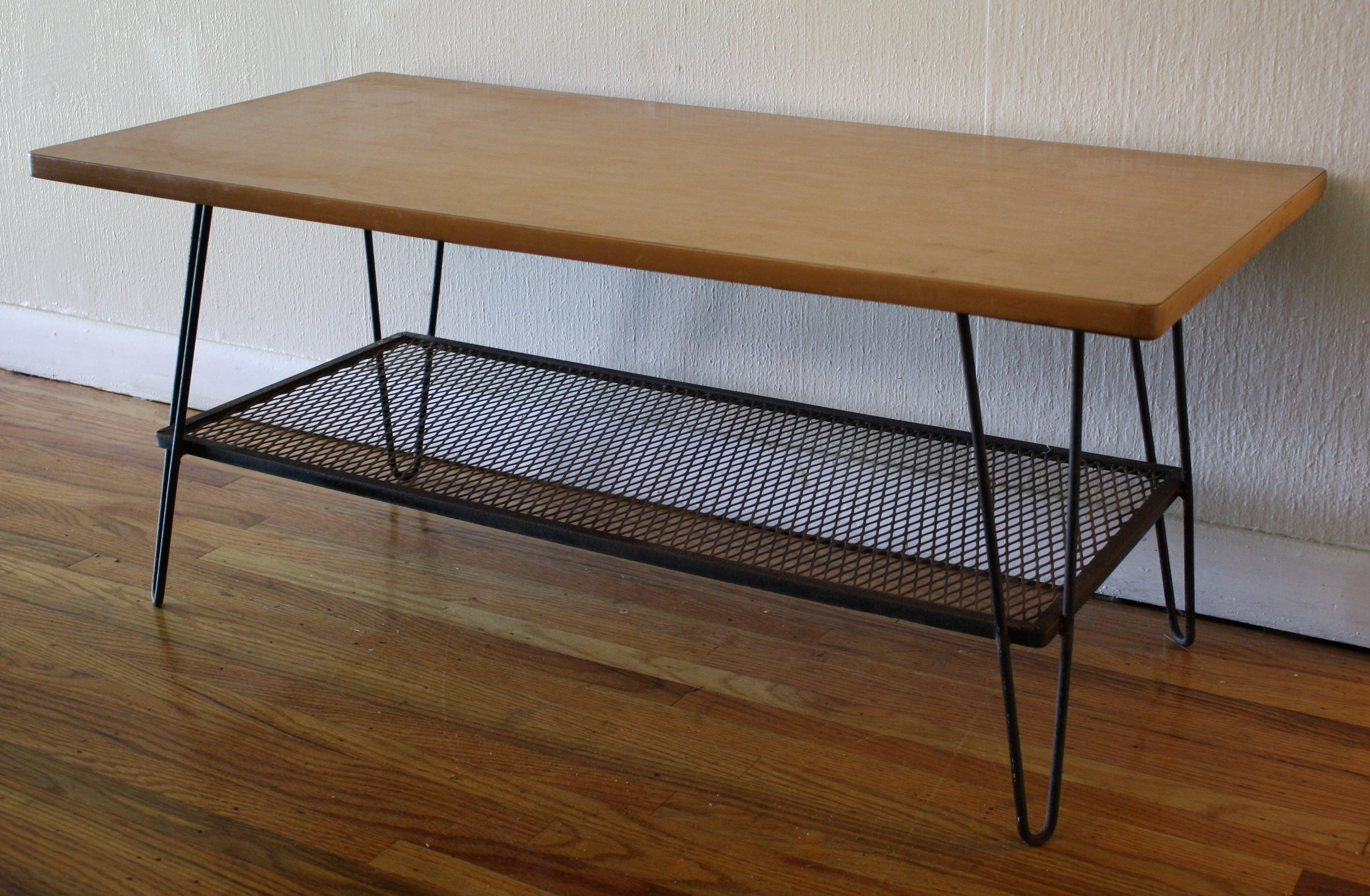 Mid Century Modern Hairpin Coffee Table Picked Vintage