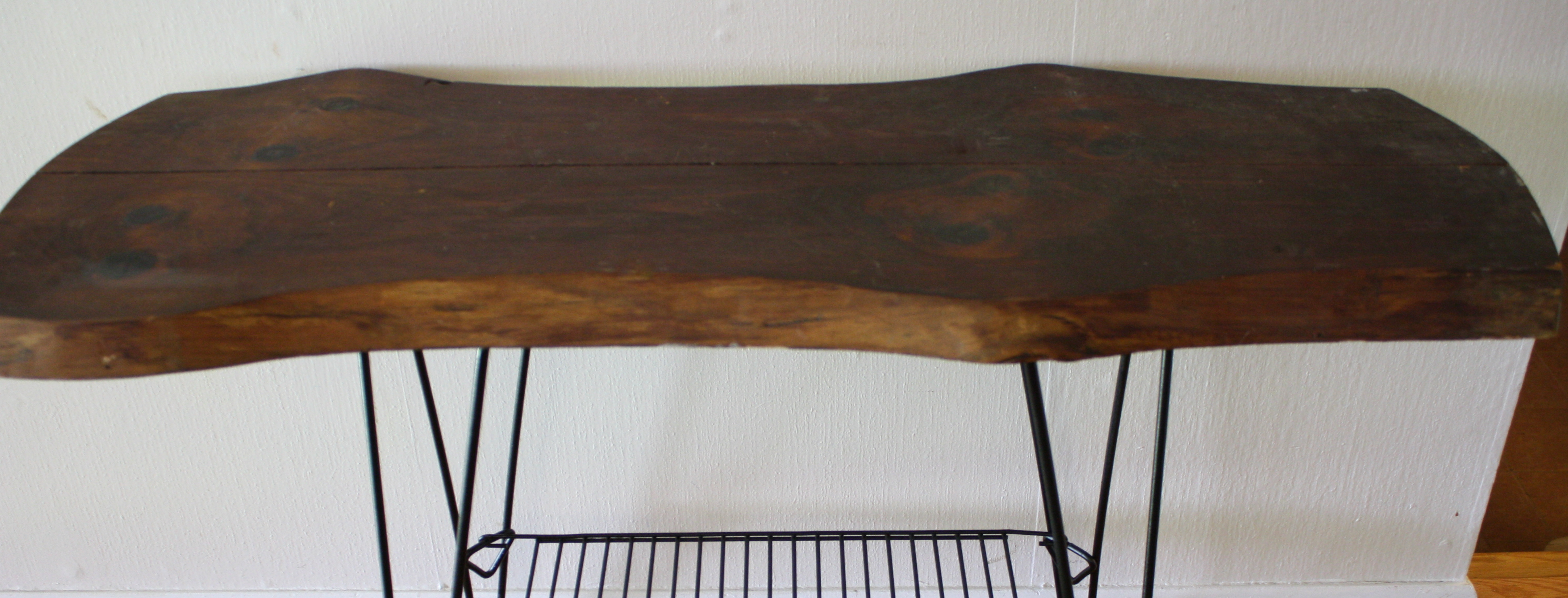 Mid Century Modern Hairpin Leg Console Table With