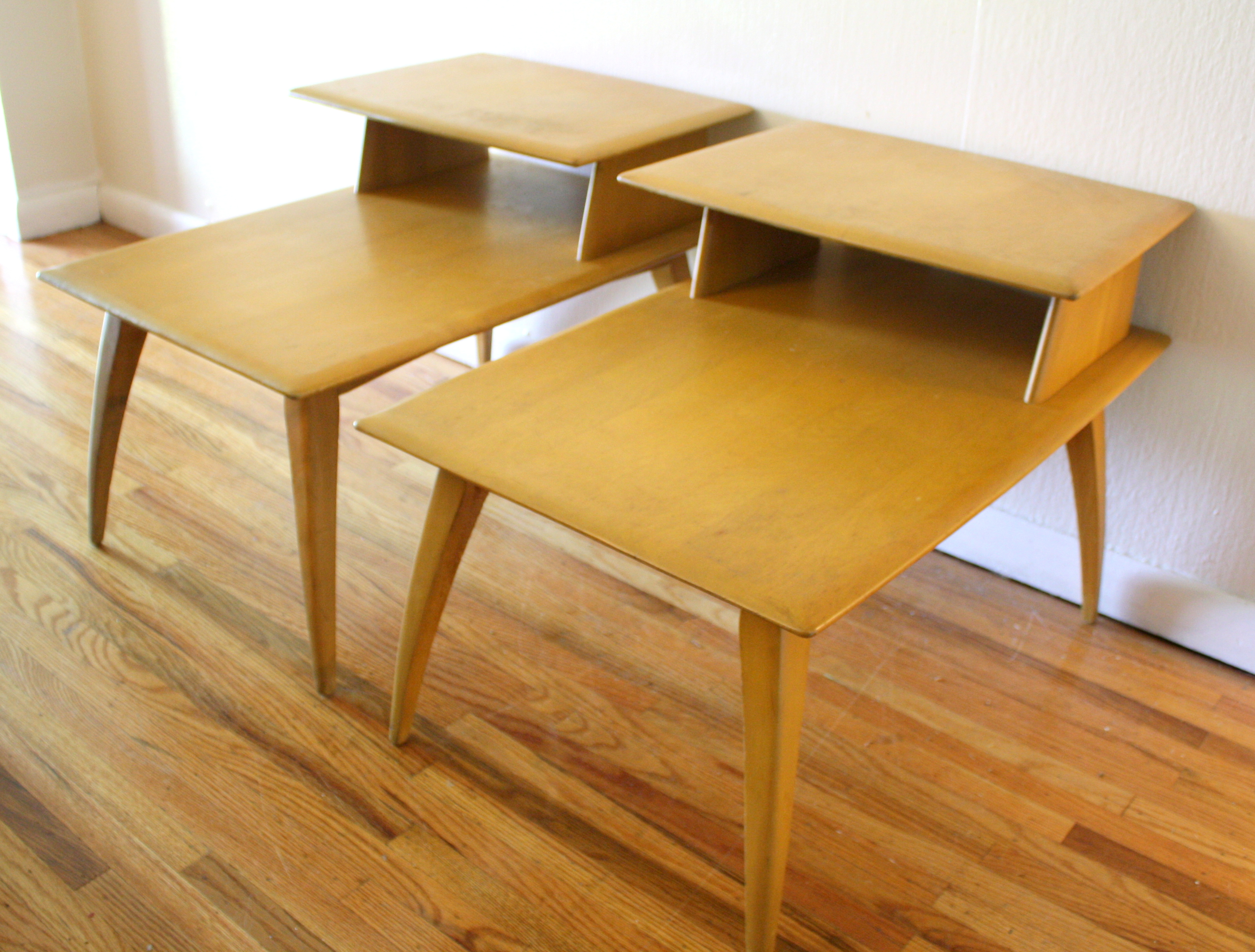 Pair of Heywood Wakefield Two Tiered Side Tables