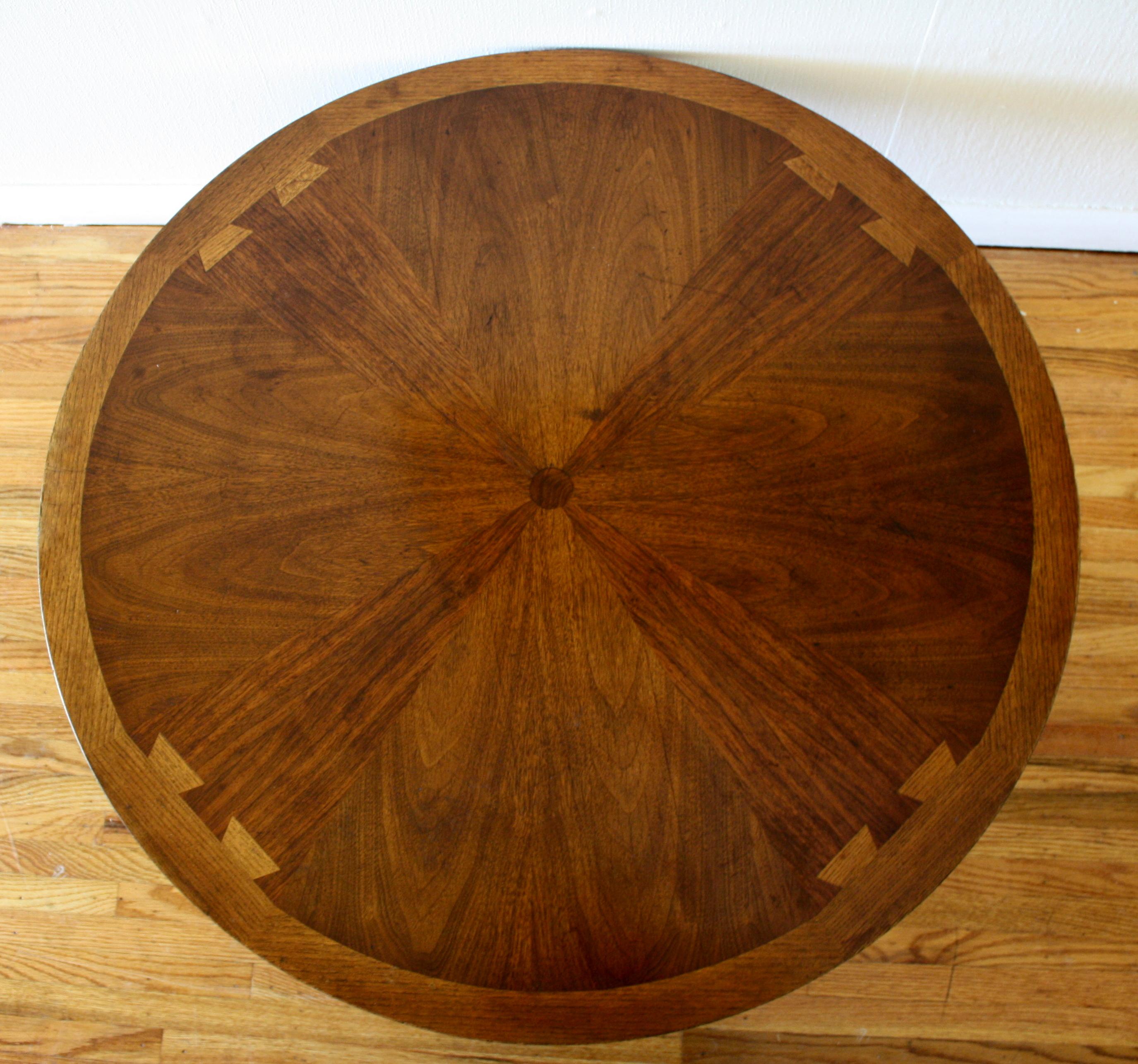 Lane Acclaim Sunburst Round Coffee Table Picked Vintage