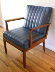 Mcm Blue Naugahyde Chair 1