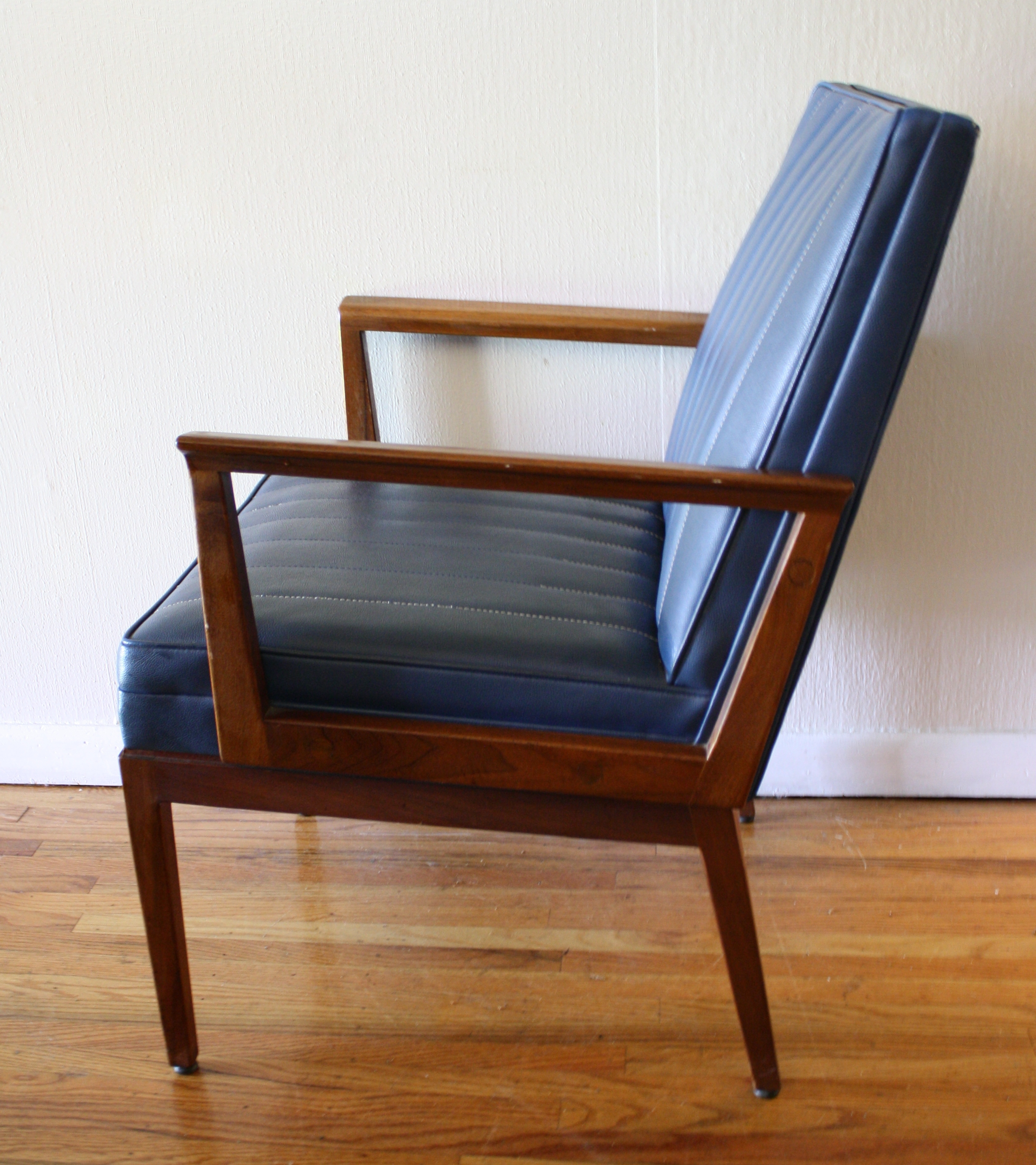 Mcm Blue Naugahyde Chair 2