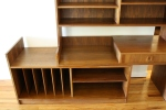 Mcm desk bookcase expandable console with record file slots 3