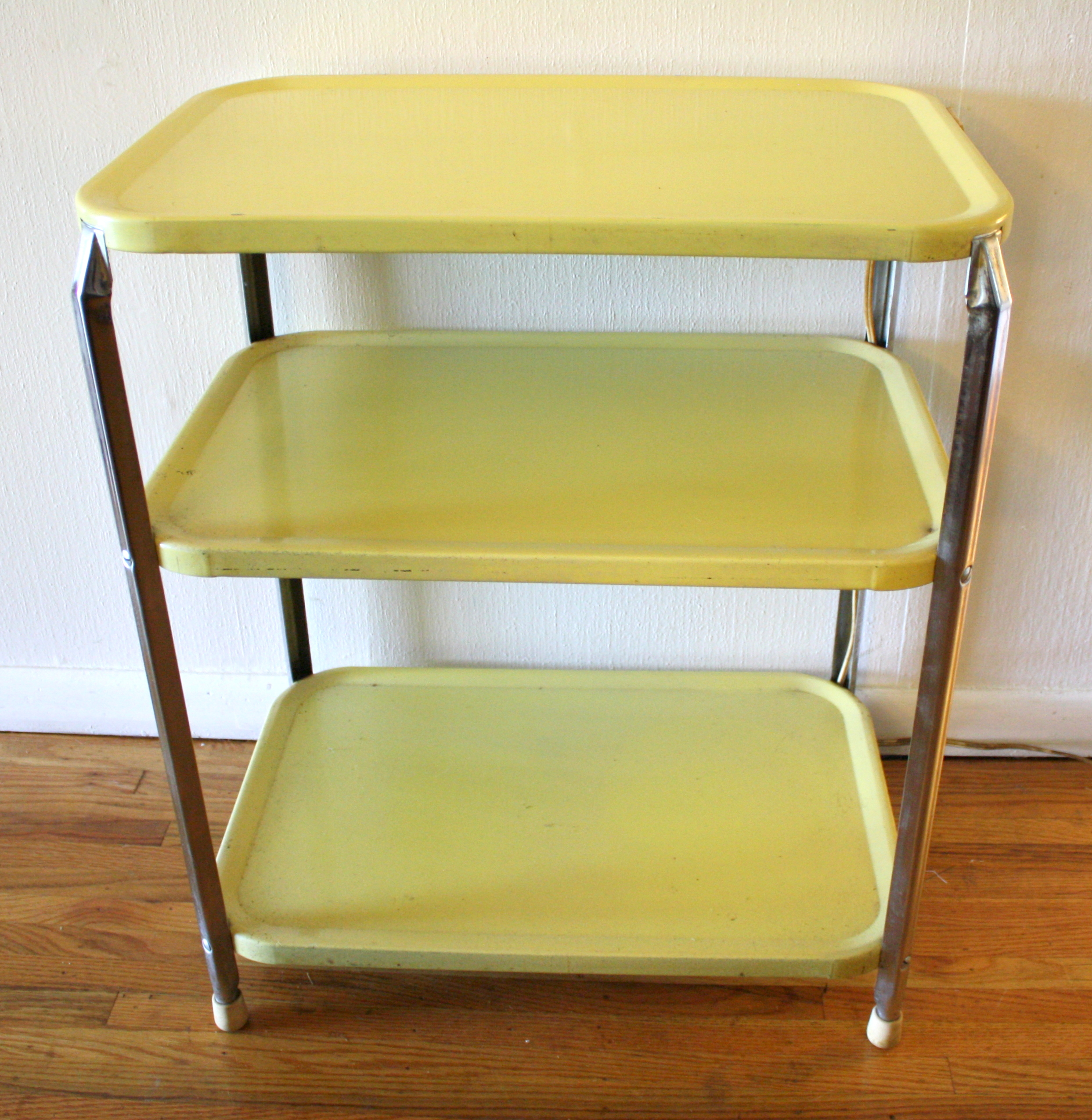 Retro 3 Tier Shelf Metal Carts Picked Vintage