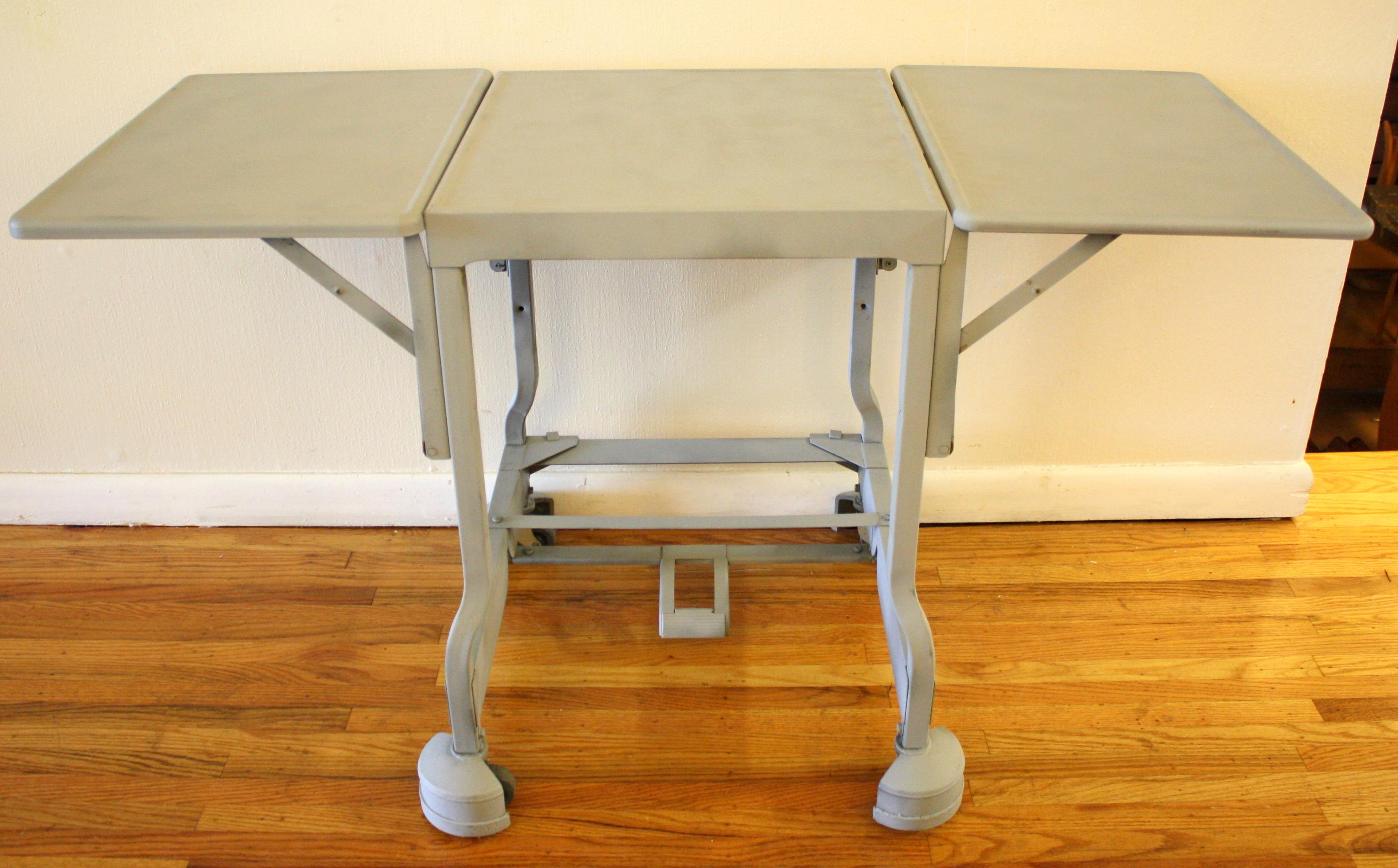 Grey Typewriter Table 3