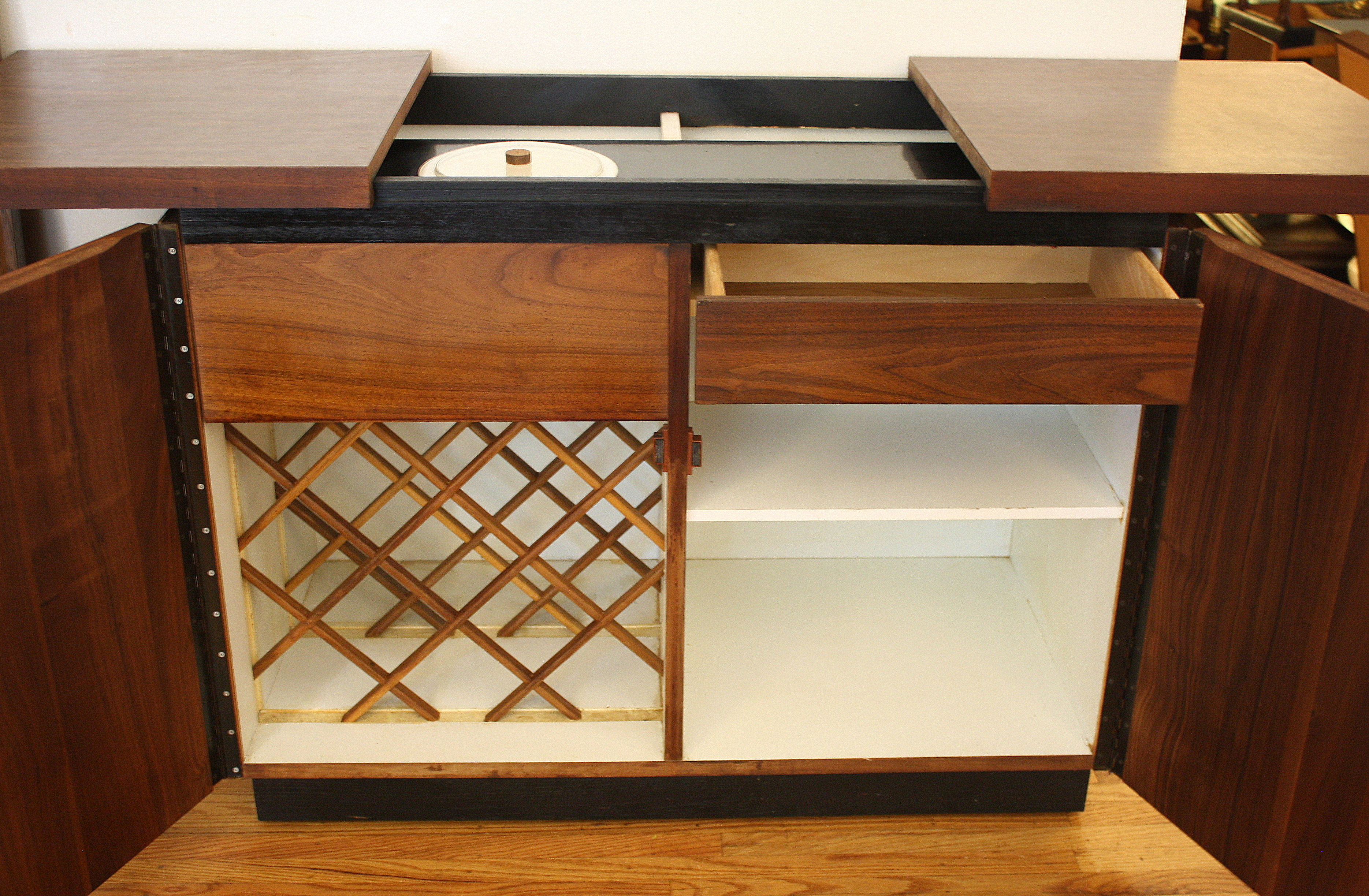 Mid Century Modern Hidden Bar By Dillingham Picked Vintage