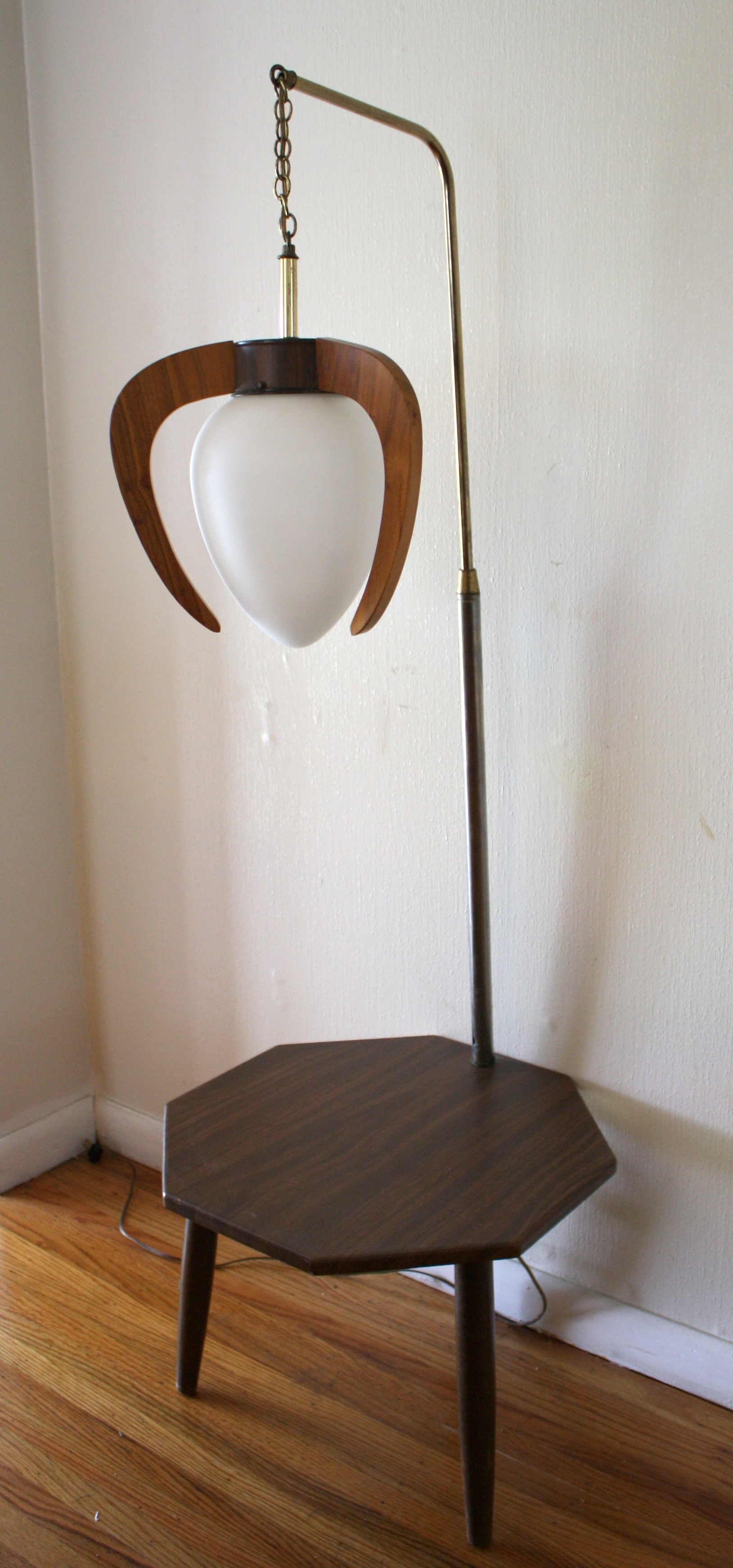 mid century modern pendant lamp table combination picked vintage. Black Bedroom Furniture Sets. Home Design Ideas