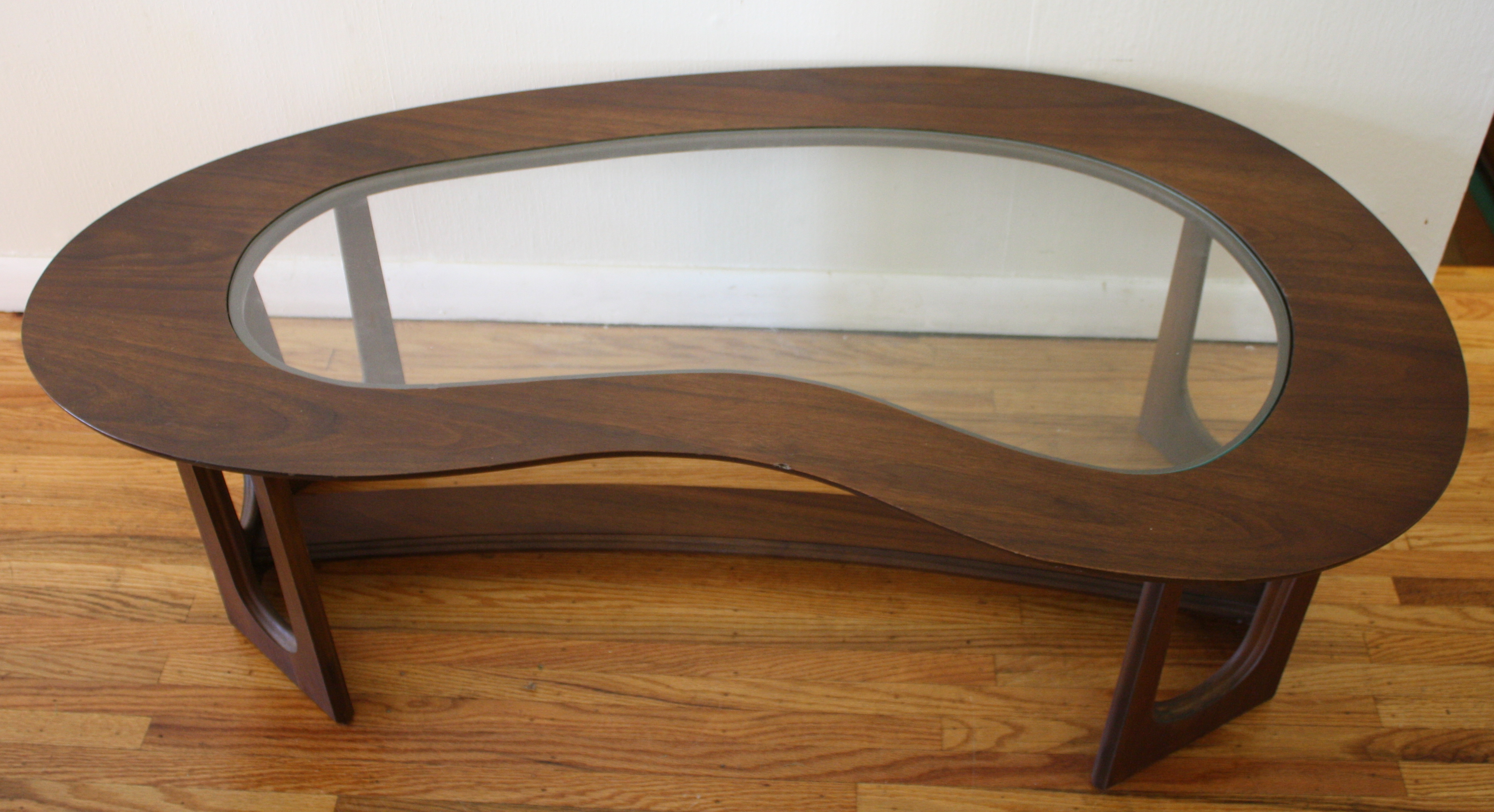 Mid Century Modern Kidney Shaped Coffee Table Picked Vintage