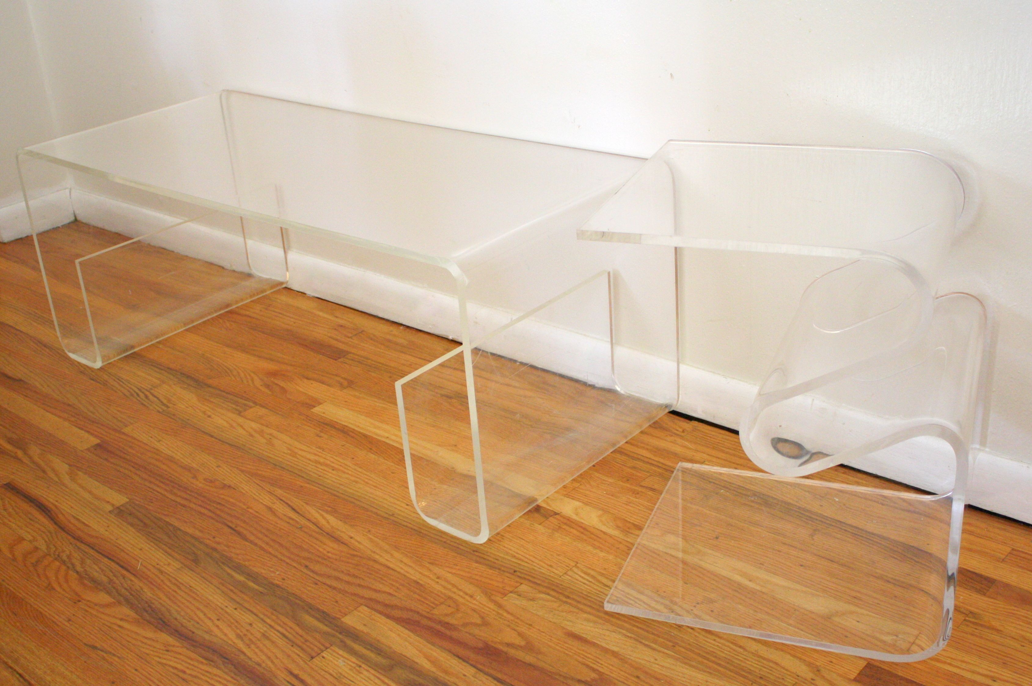 Lucite Coffee Table 3 Picked Vintage