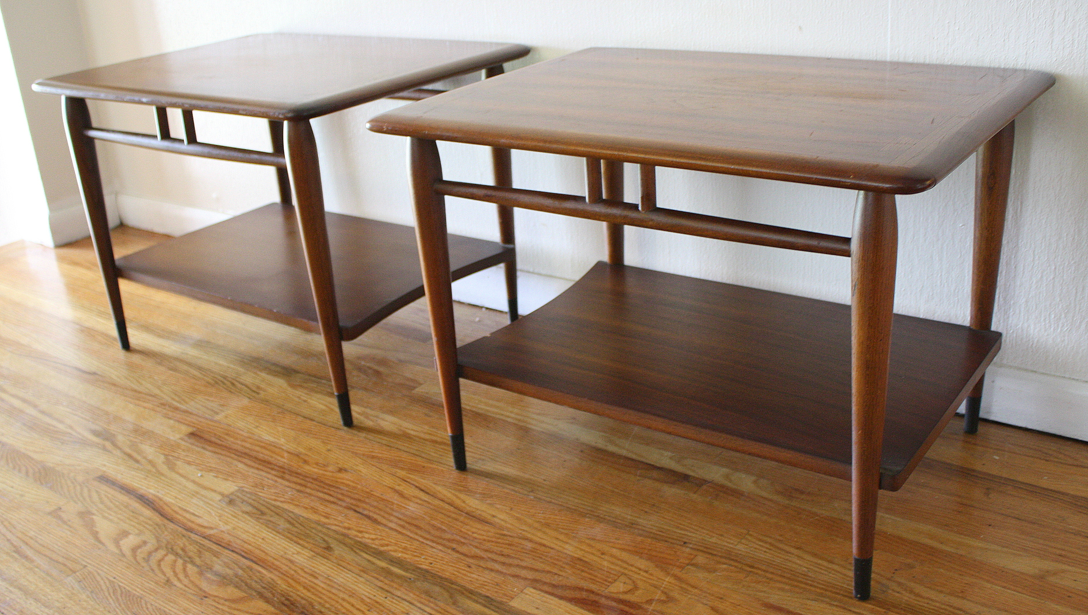 Mid Century Modern Dovetail Side End Tables Lane Acclaim