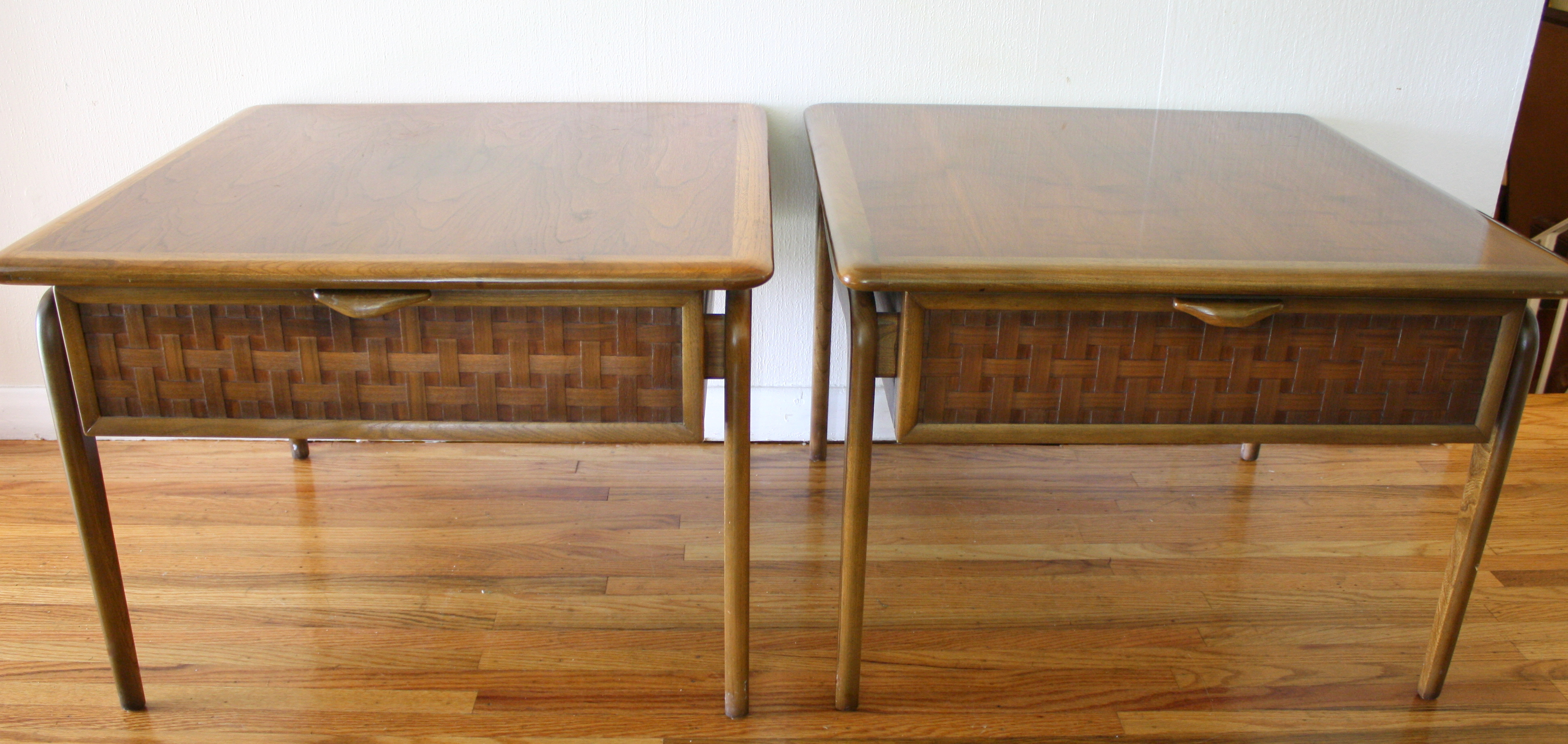 Mid century modern coffee table and side tables lane perception series picked vintage Modern coffee and end tables