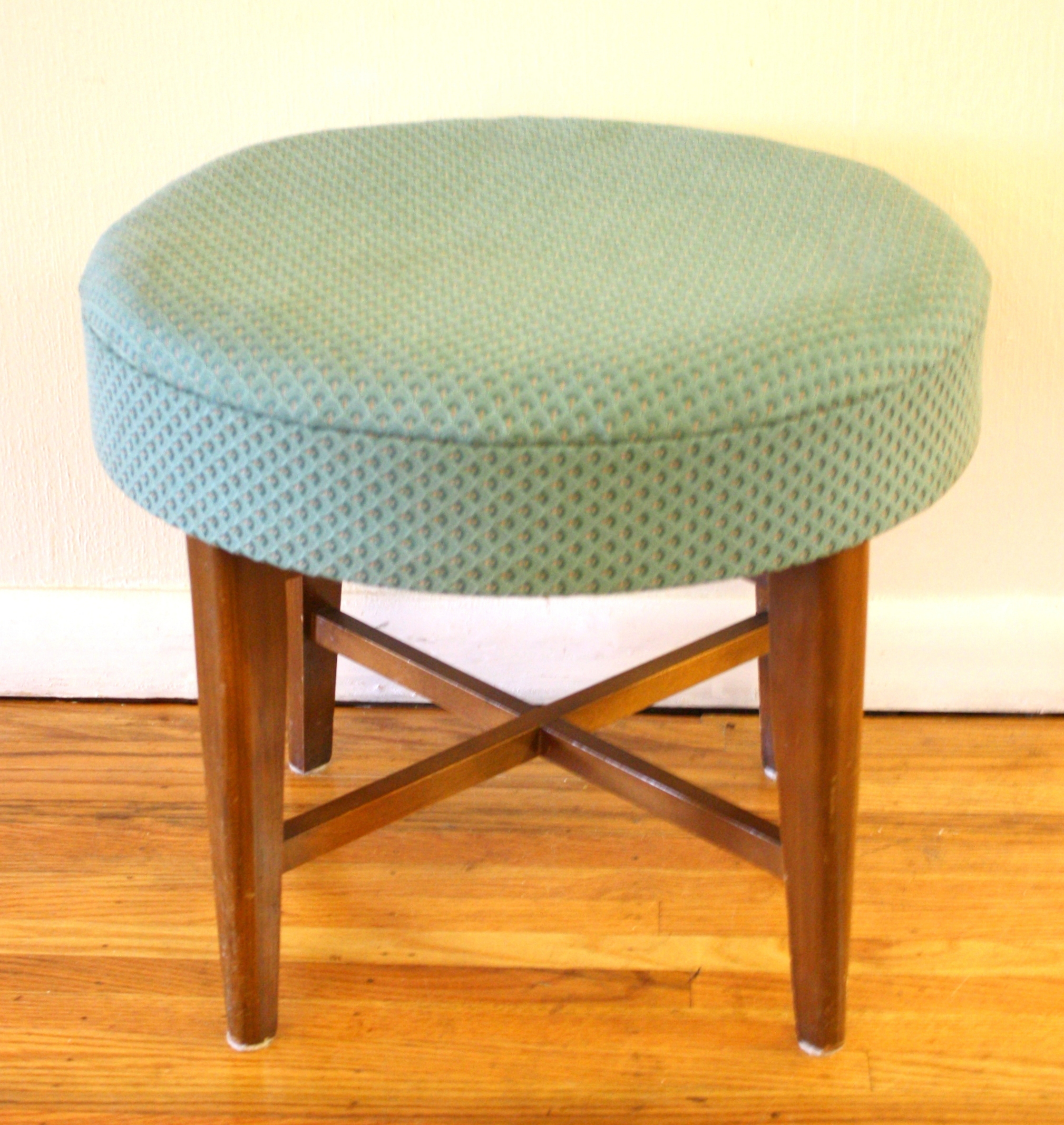 Mid century modern and vintage ottomans picked vintage - Mid century modern chair and ottoman ...