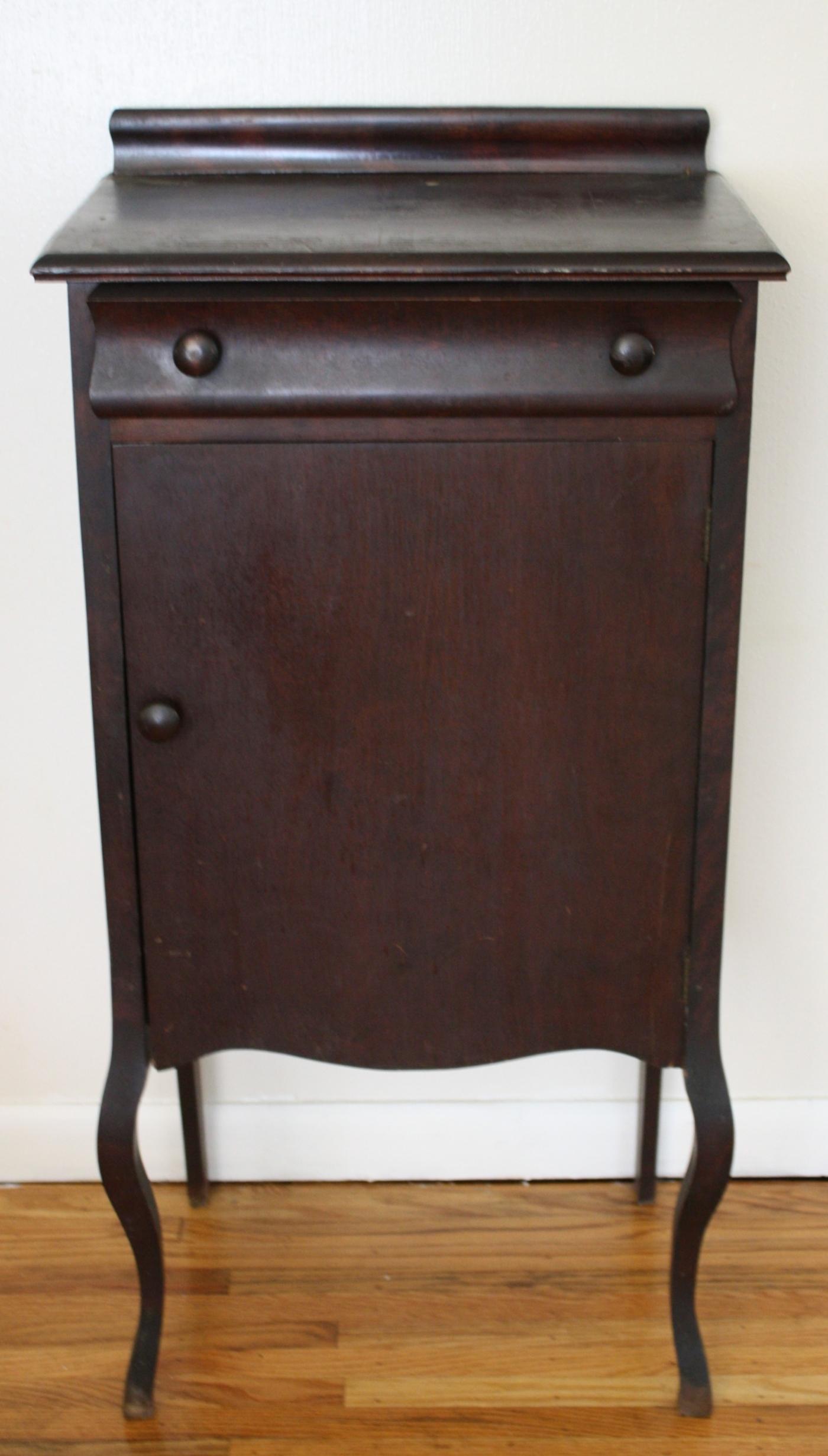- Antique Mahogany Empire Record Cabinet Picked Vintage