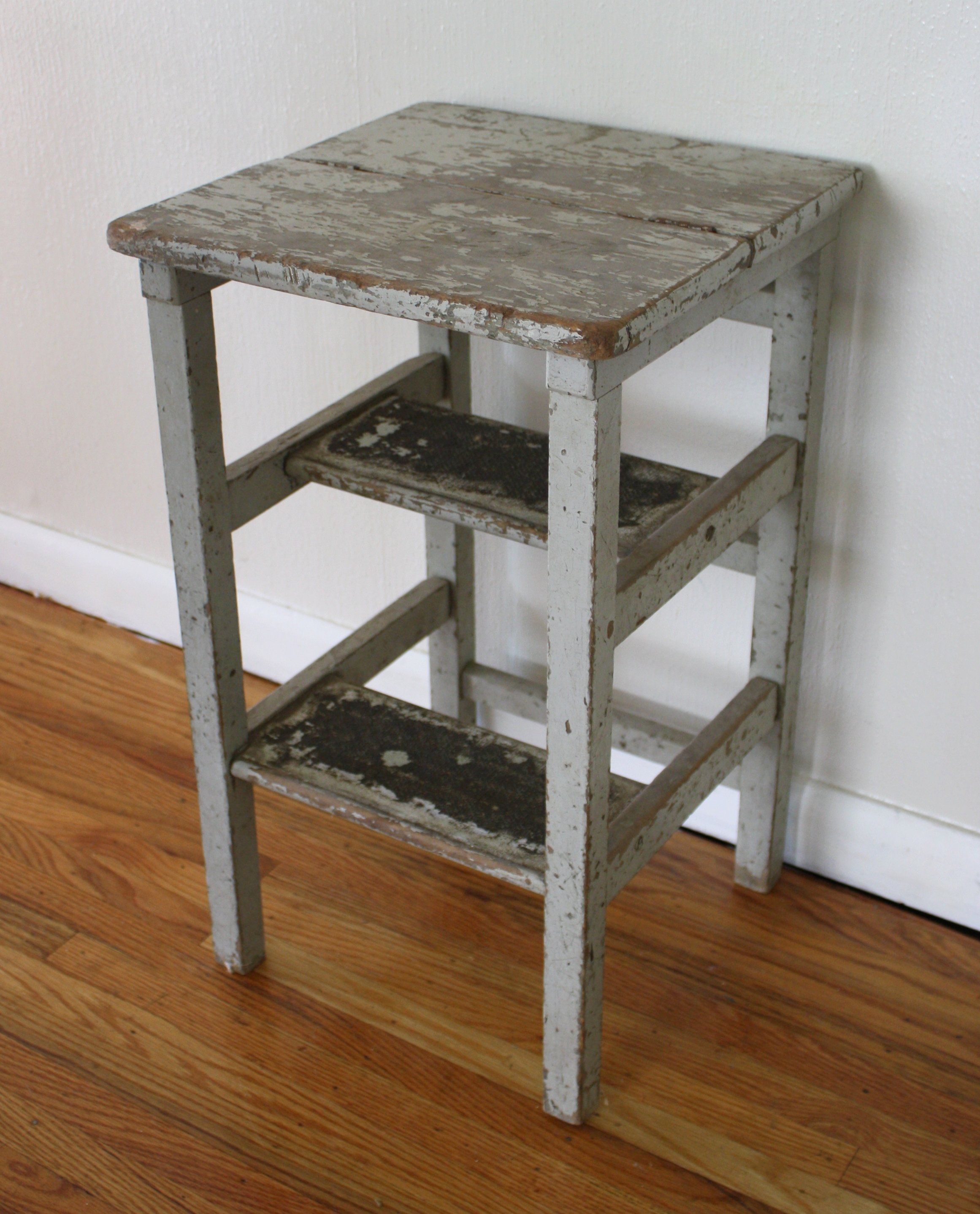 Antique Rustic Step Stool Picked Vintage