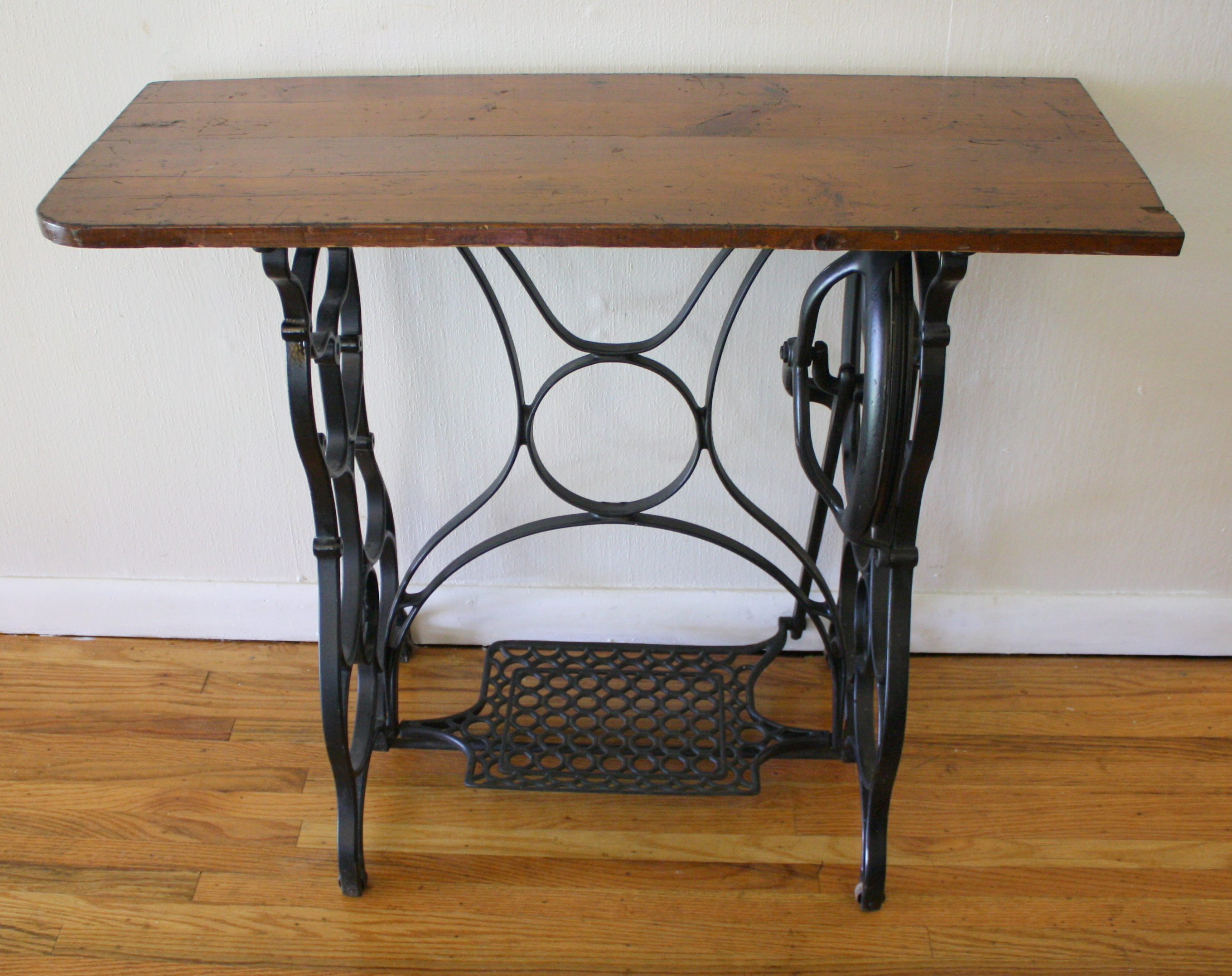 Antique Sewing Table With Reclaimed Wood Top Picked Vintage
