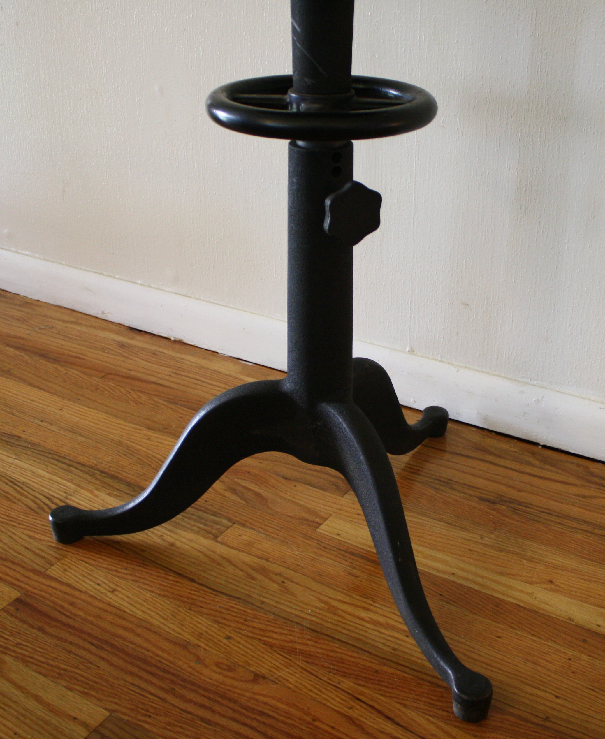 Antique Cast Iron Table With Glass Top