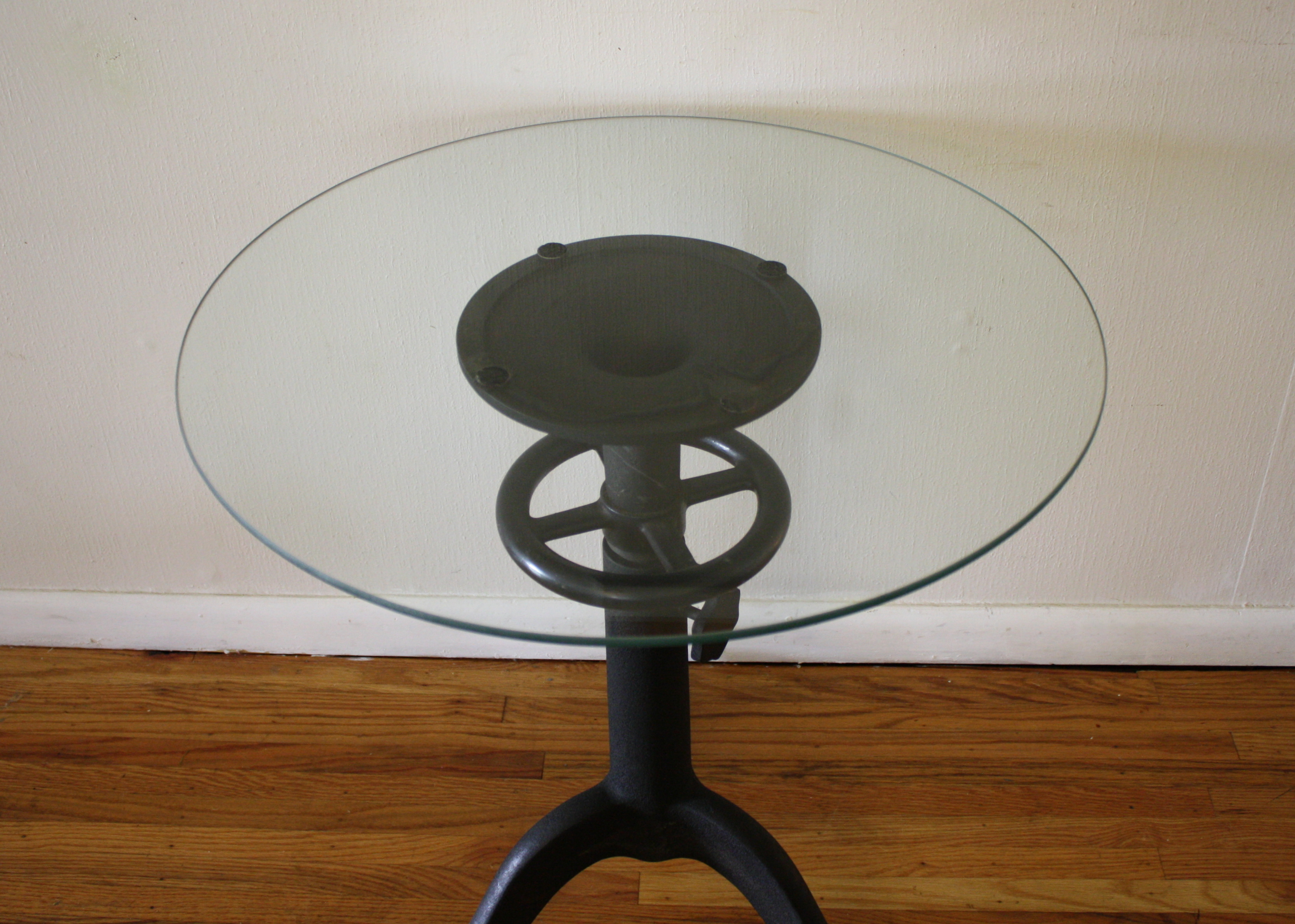 Antique Cast Iron Table with Glass Top u2013 Steampunk Chic : Picked Vintage
