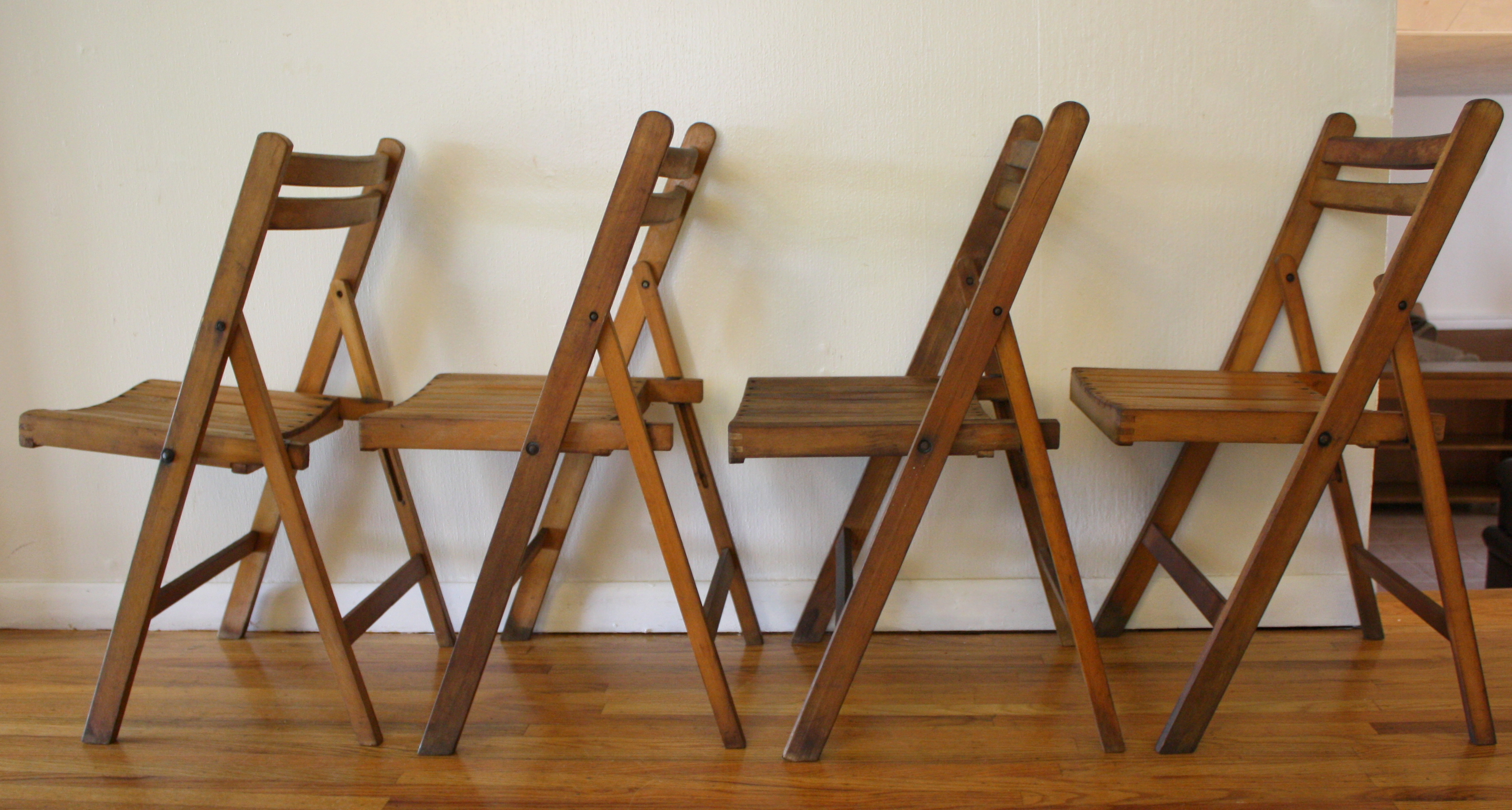 Antique Folding Chairs 3 Picked Vintage