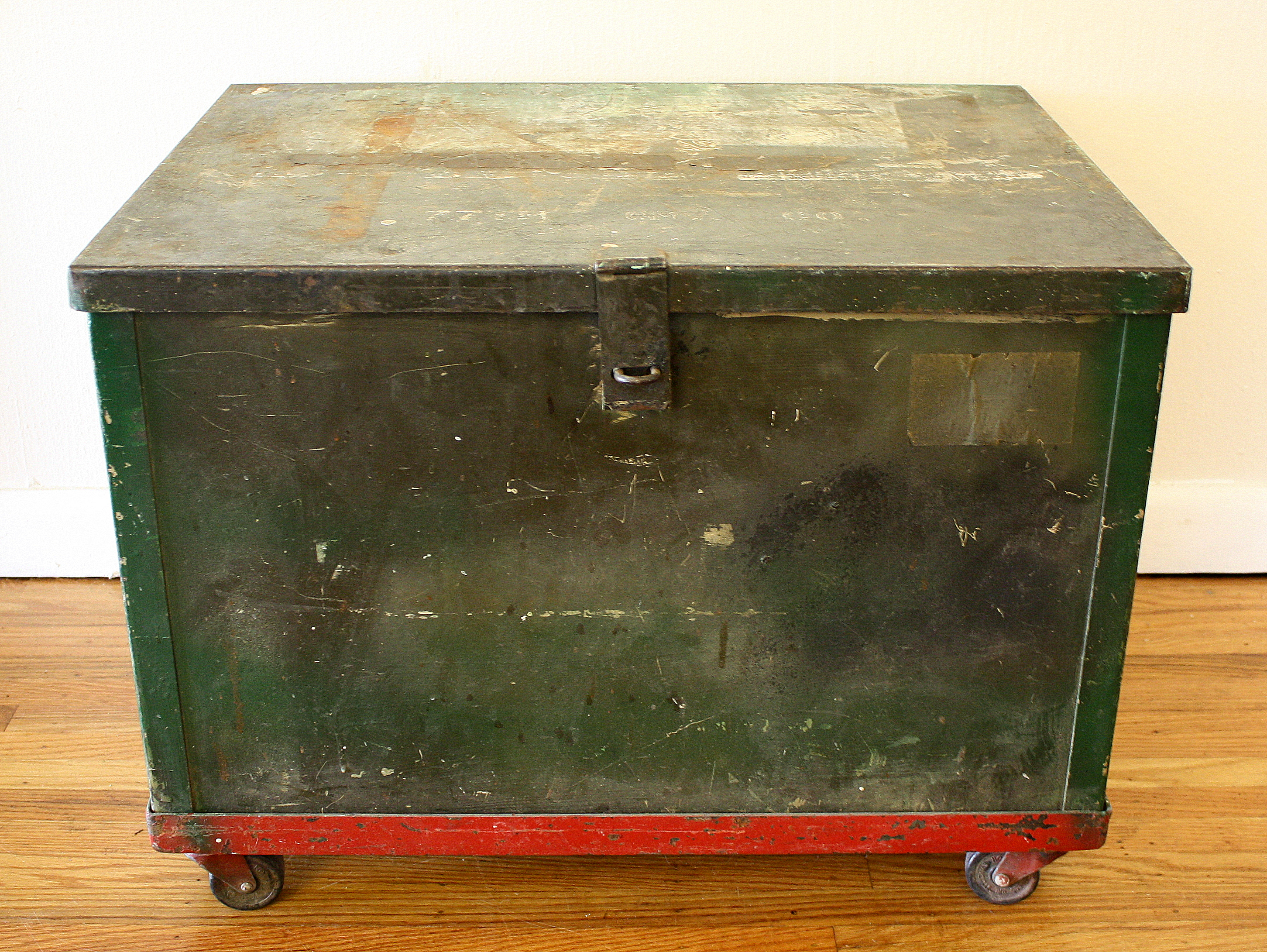 Antique Military Supply Trunk Picked Vintage
