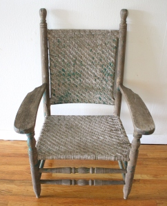 antique primitive chair 1