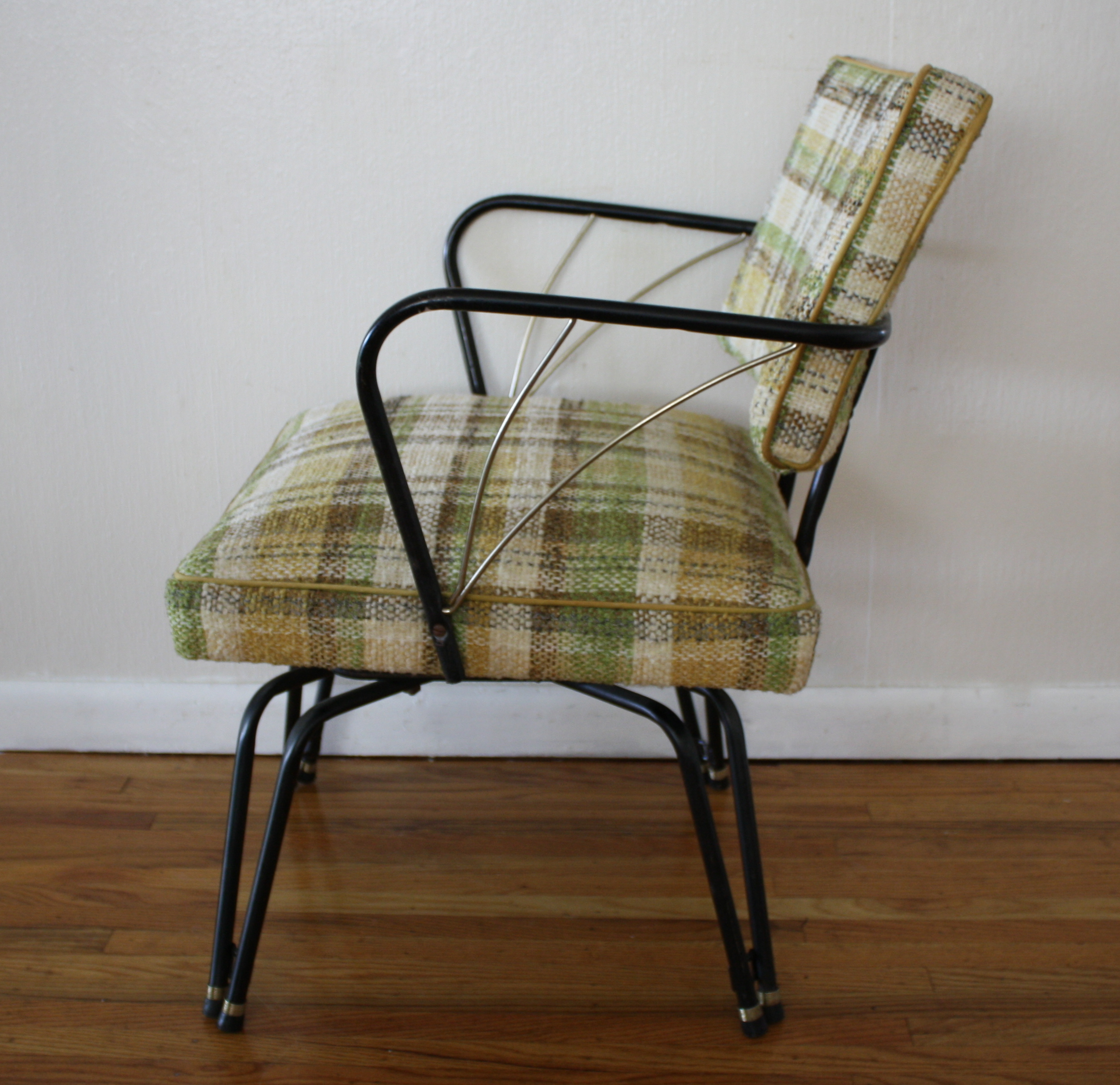 Mid Century Modern Upholstered Swivel Chair Picked Vintage