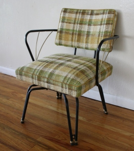 mcm green upholstered chair 3