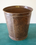 industrial trash can brown