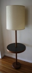 mcm black tile floor lamp