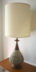 mcm brown pottery lamp 1