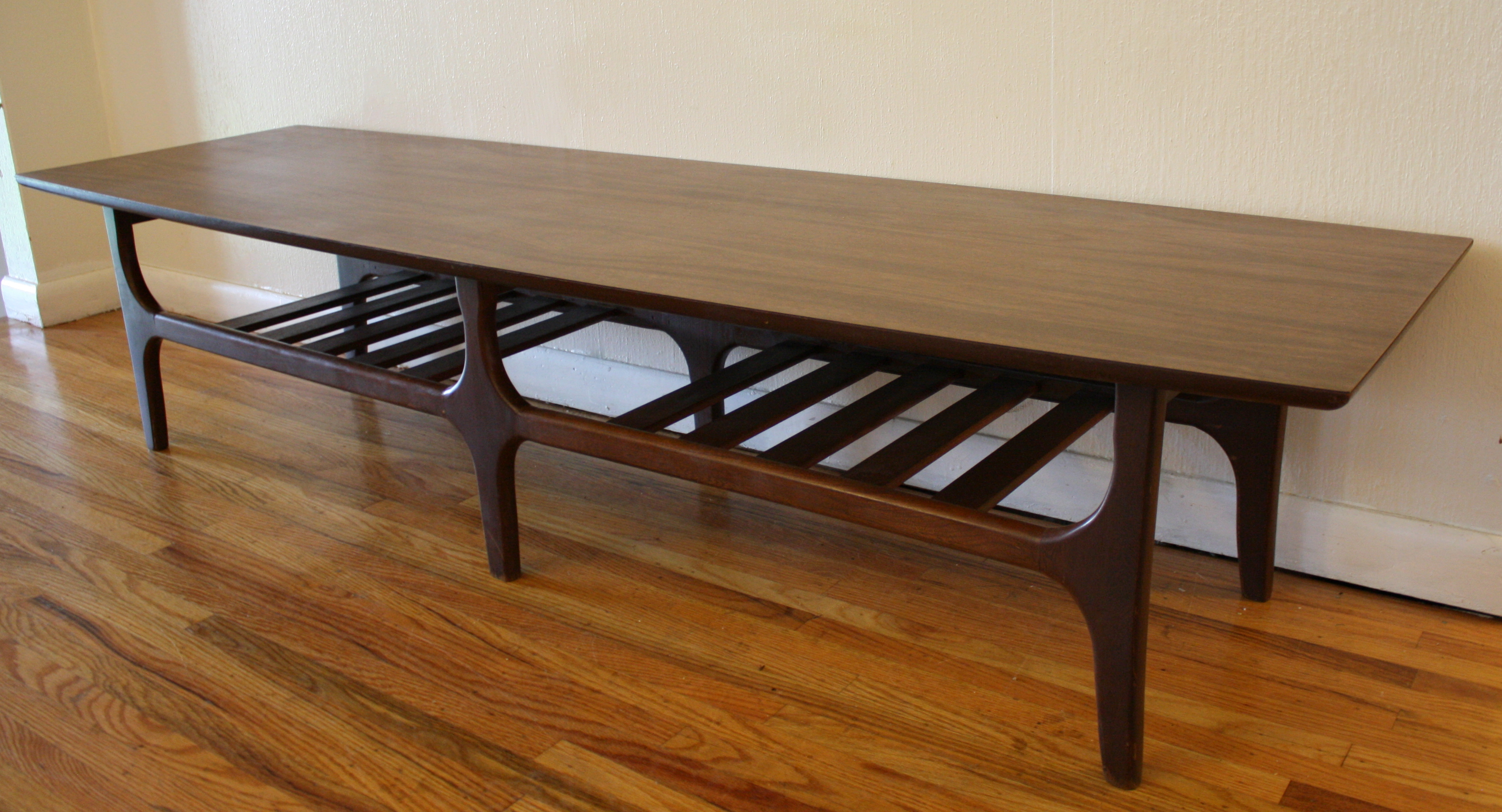 Mcm Formica Top Coffee Table Slat Base 2 ...