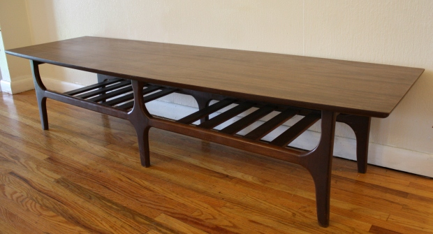 Mcm Formica Top Coffee Table Slat Base 2 Picked Vintage